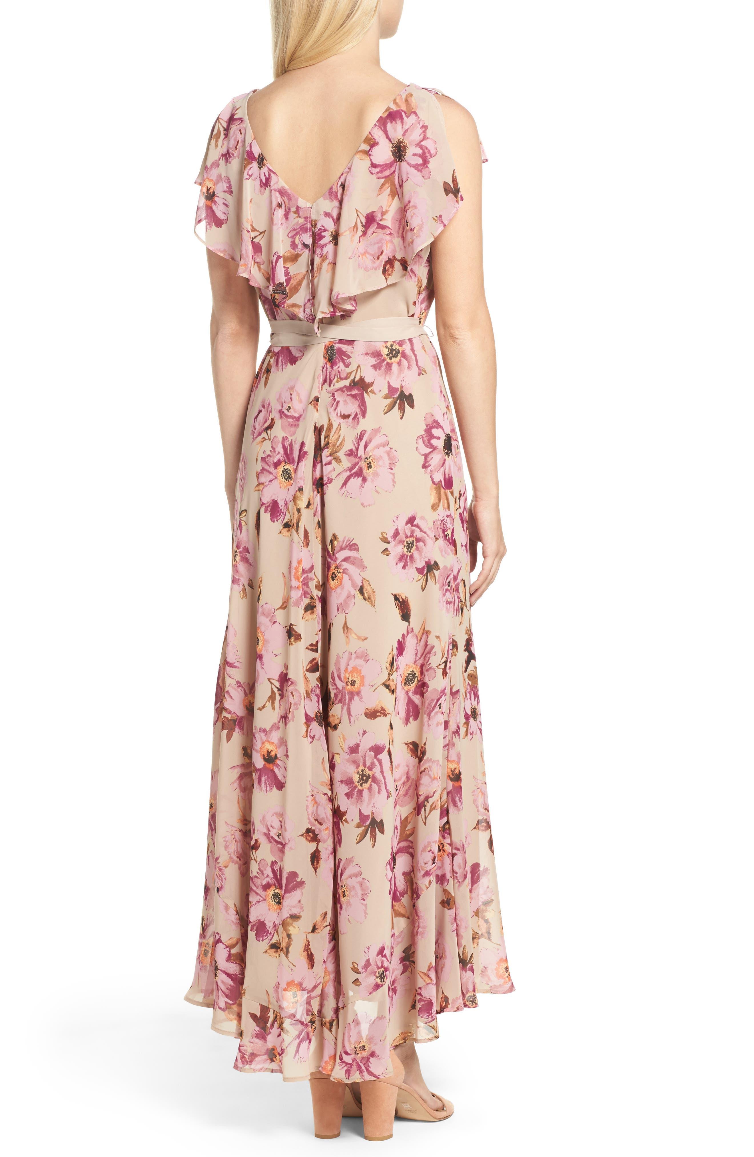 Chiffon Maxi Dress,                             Alternate thumbnail 2, color,                             653