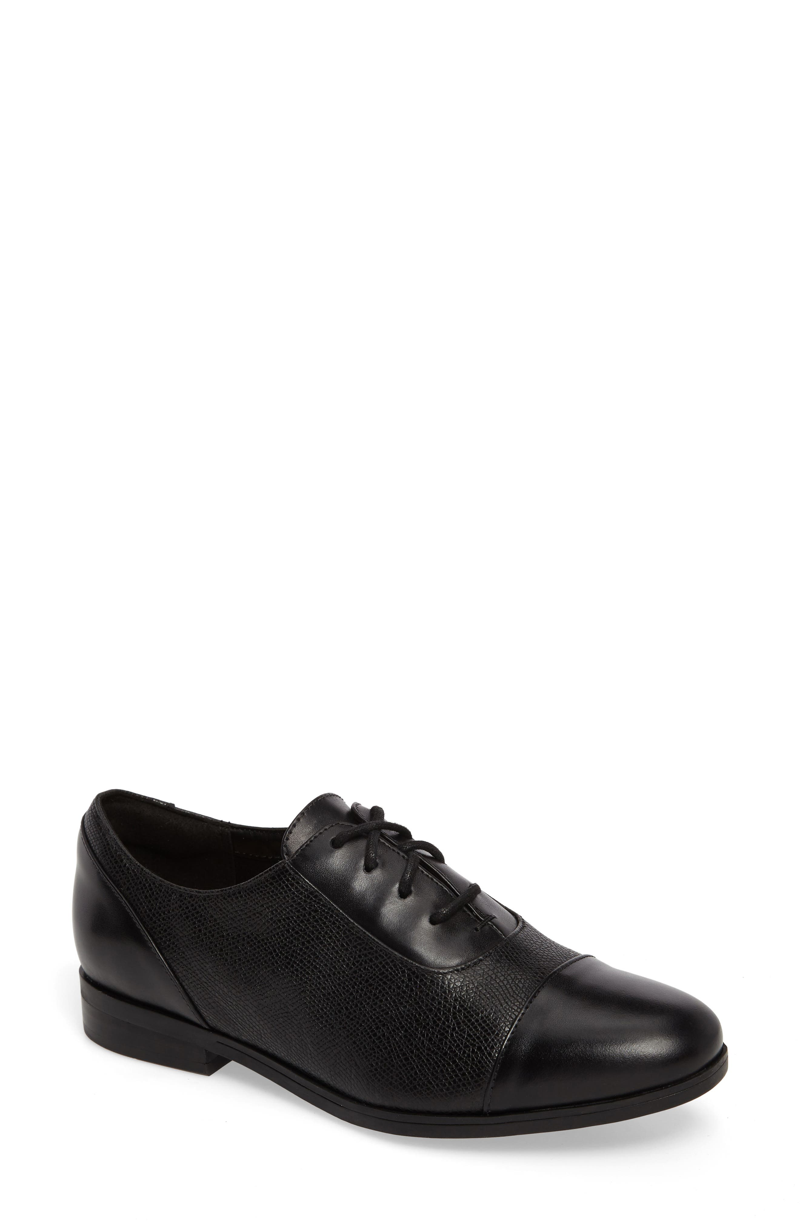 Tilmont Ivy Oxford,                             Main thumbnail 1, color,                             BLACK LEATHER