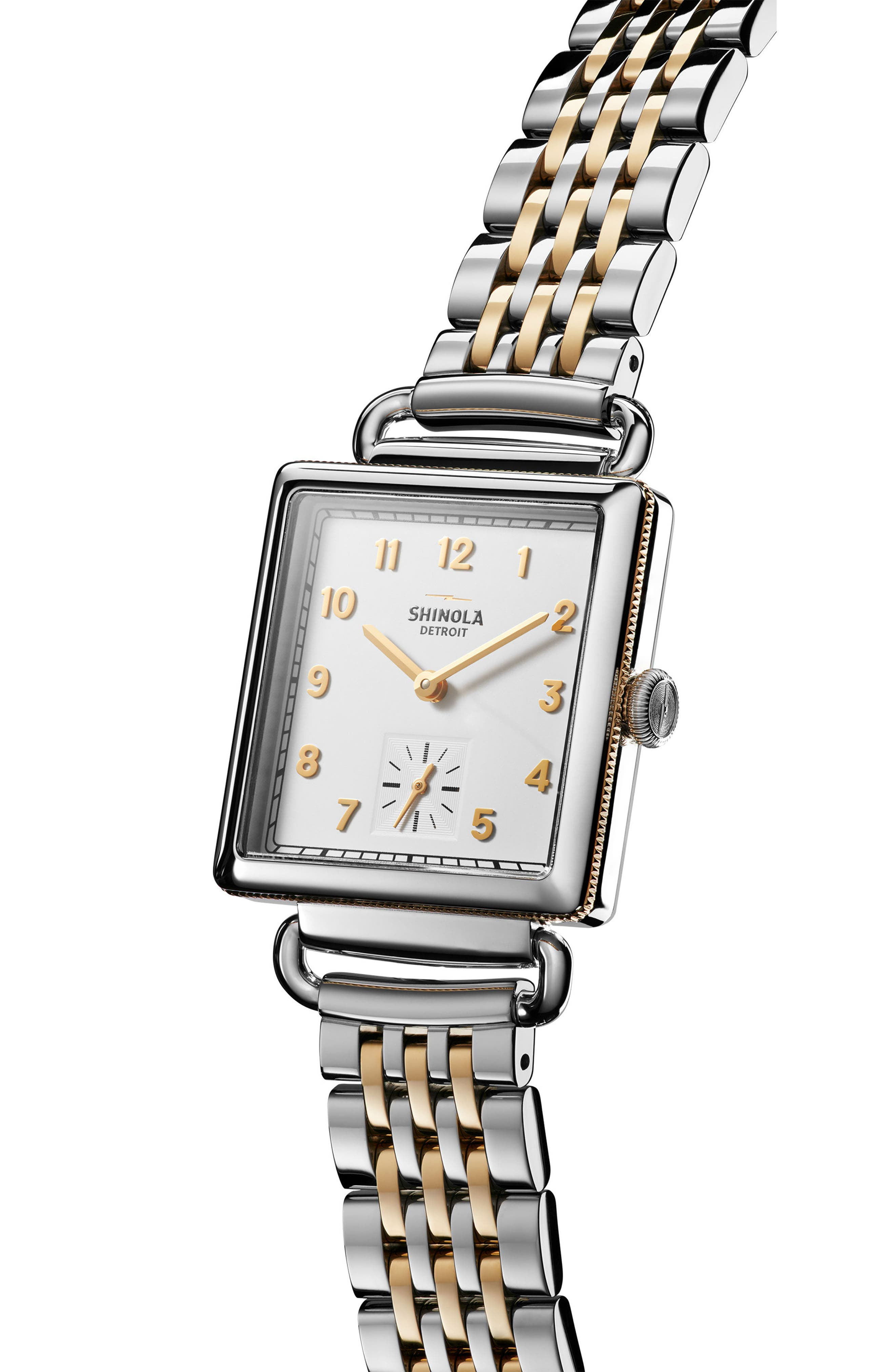 Cass Bracelet Watch, 27mm x 27mm,                             Alternate thumbnail 3, color,                             SILVER/ WHITE/ GOLD