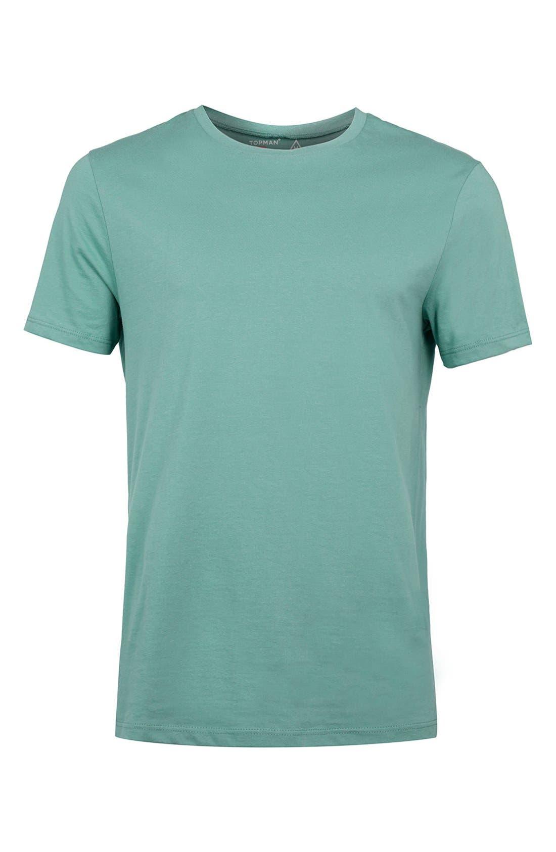 Slim Fit Crewneck T-Shirt,                             Alternate thumbnail 407, color,