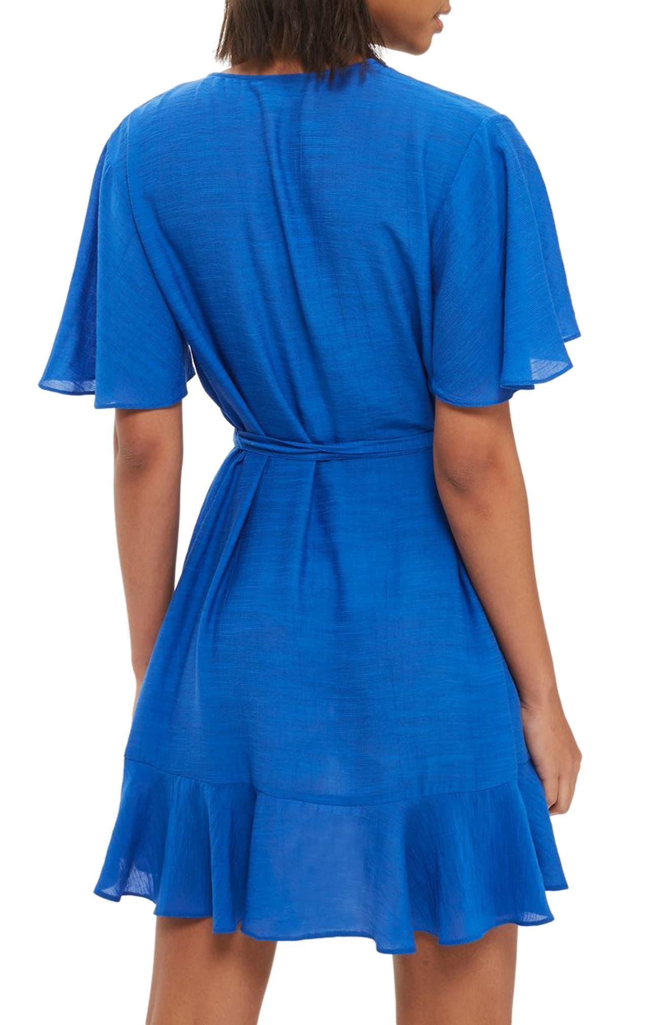 Ruffle Wrap Dress,                             Alternate thumbnail 2, color,                             400