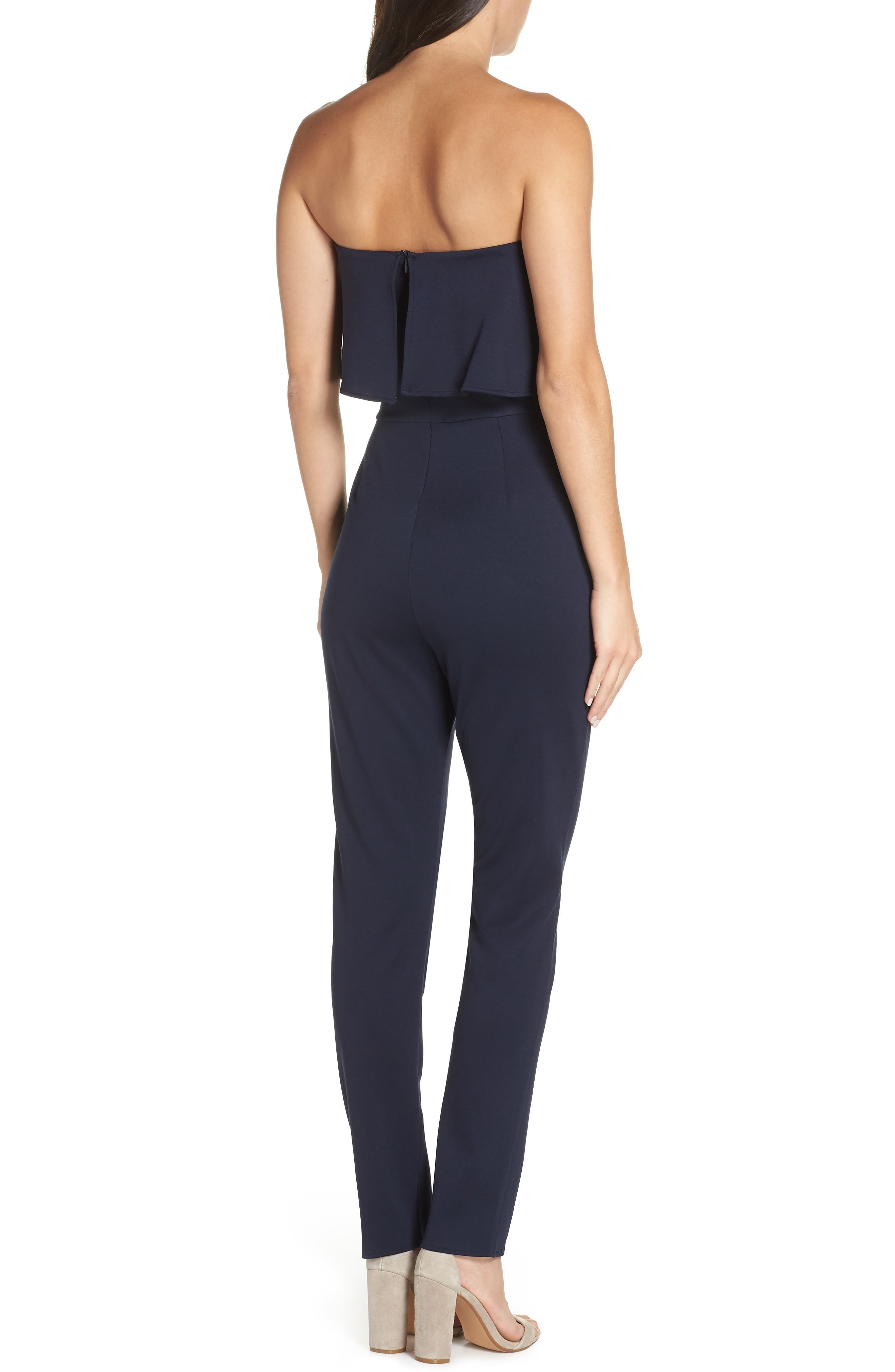 Strapless Jumpsuit,                             Alternate thumbnail 2, color,                             NAVY