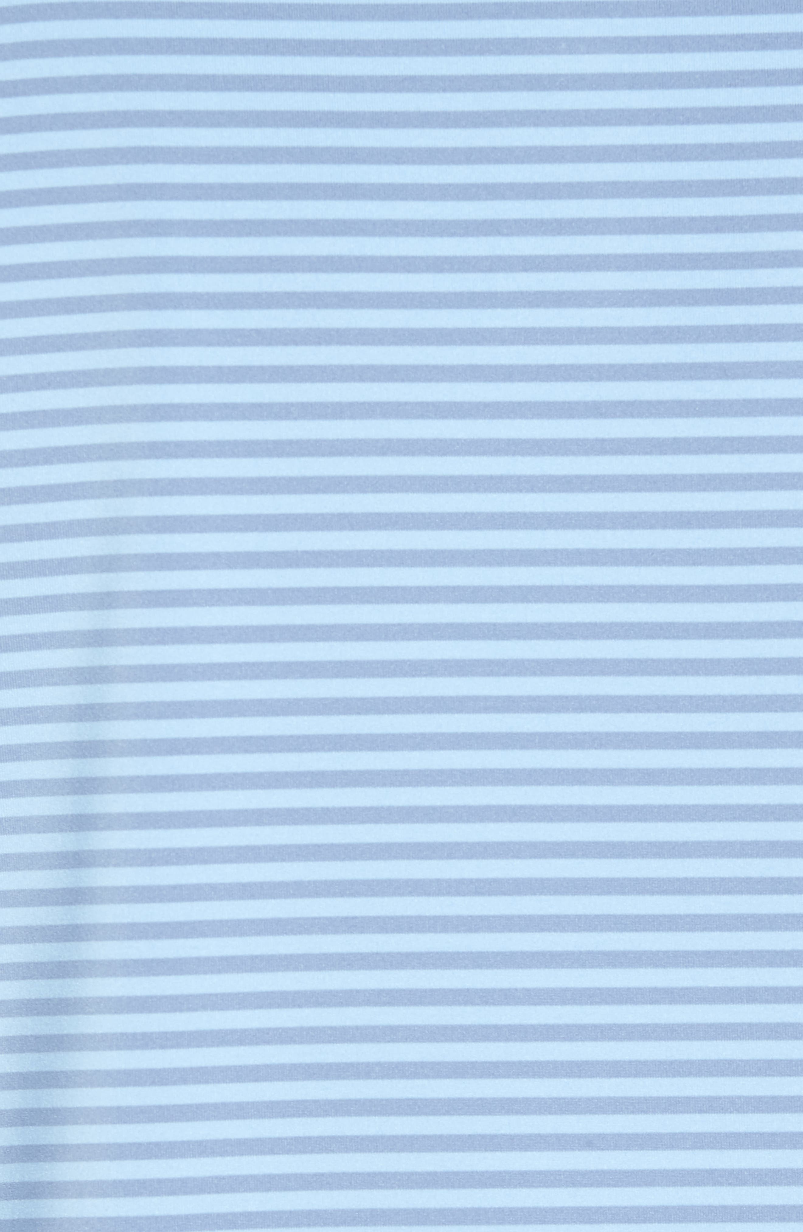 Competition Stripe Stretch Jersey Polo,                             Alternate thumbnail 5, color,                             COTTAGE BLUE