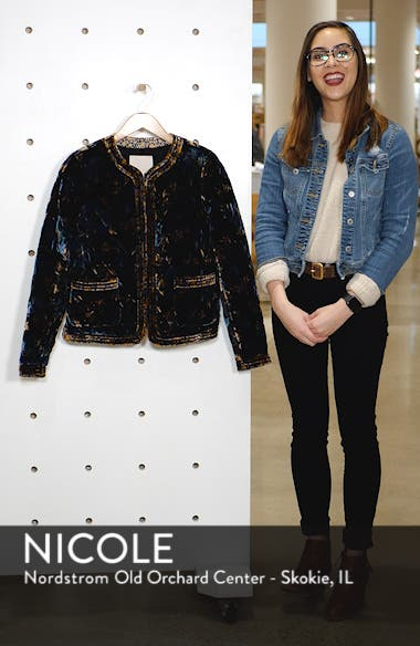 Solstice Quilted Velvet Jacket, sales video thumbnail