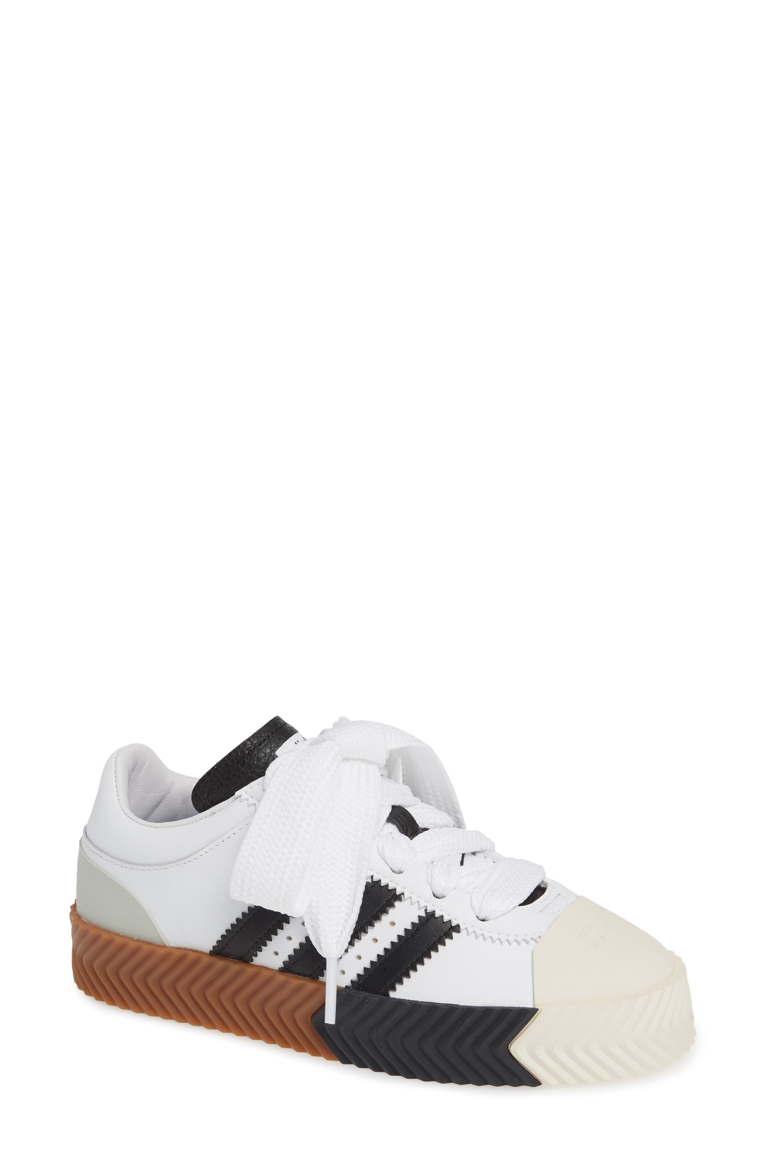 Skate Super Sneaker,                             Main thumbnail 1, color,                             WHITE/ BLACK/ BROWN