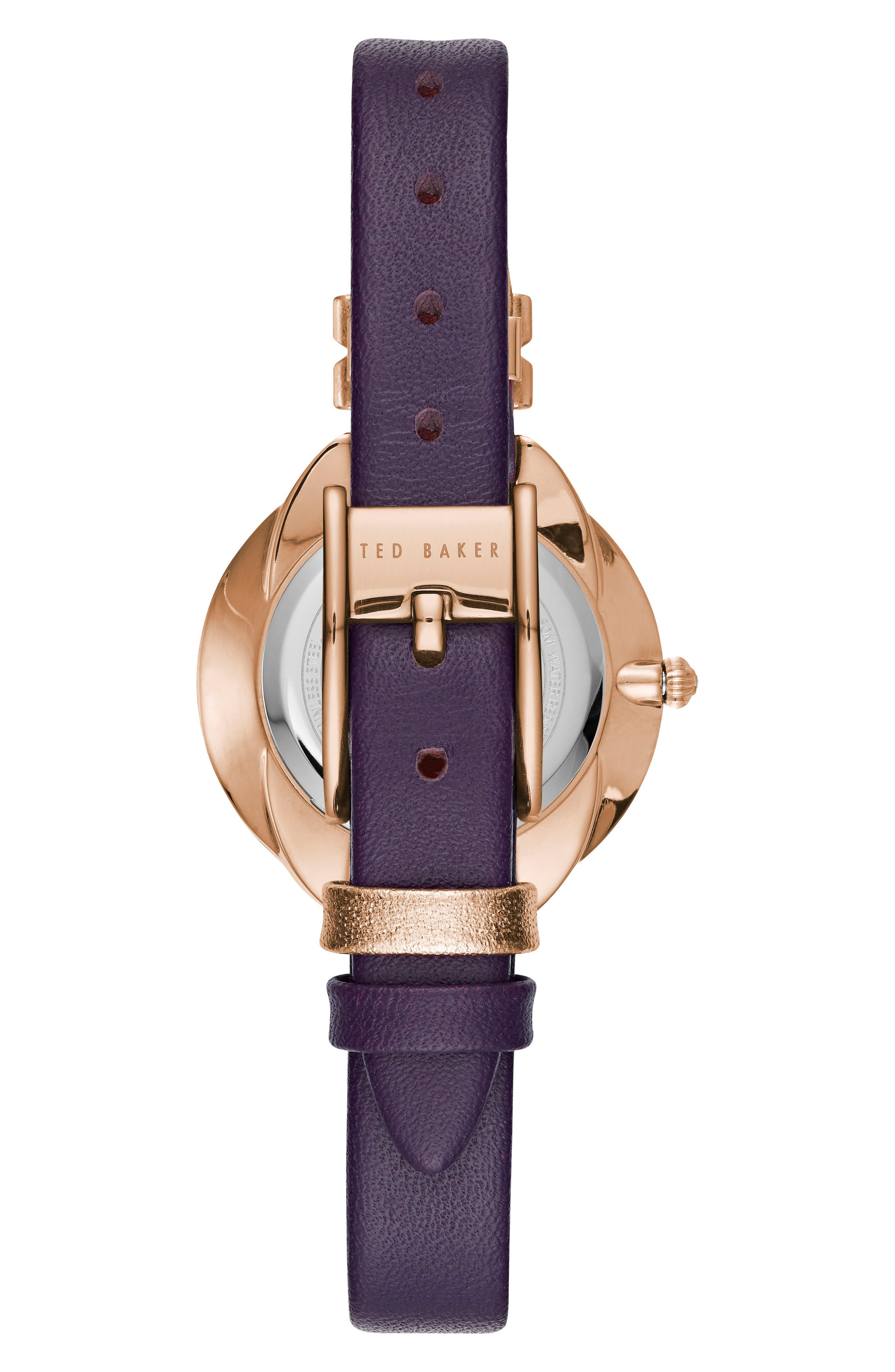 Elana Leather Strap Watch, 30mm,                             Alternate thumbnail 7, color,
