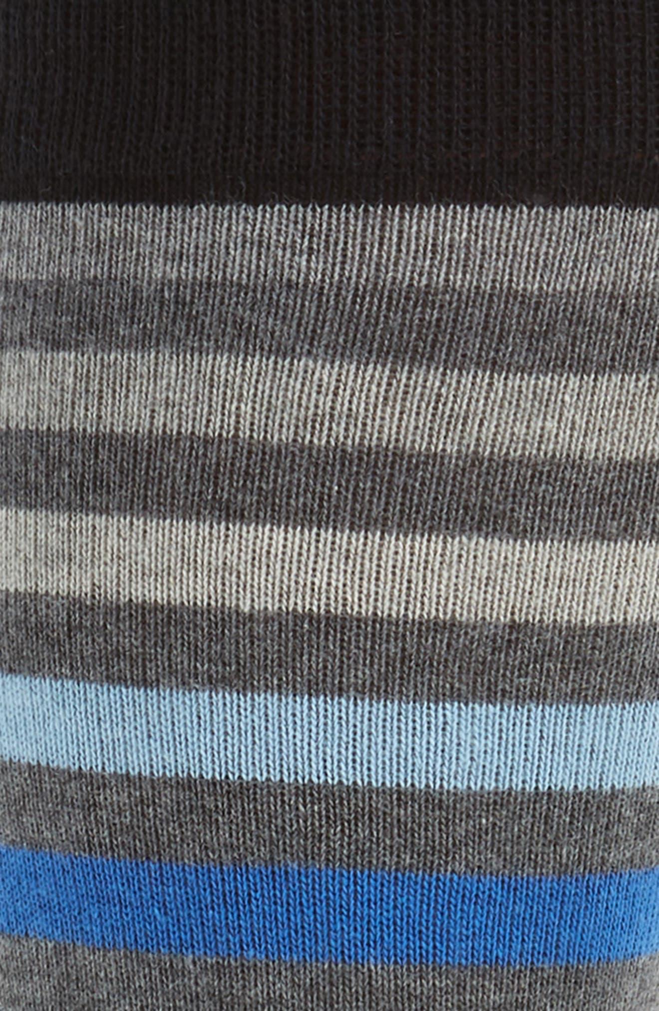 Heather Stripe Socks,                             Alternate thumbnail 2, color,                             001