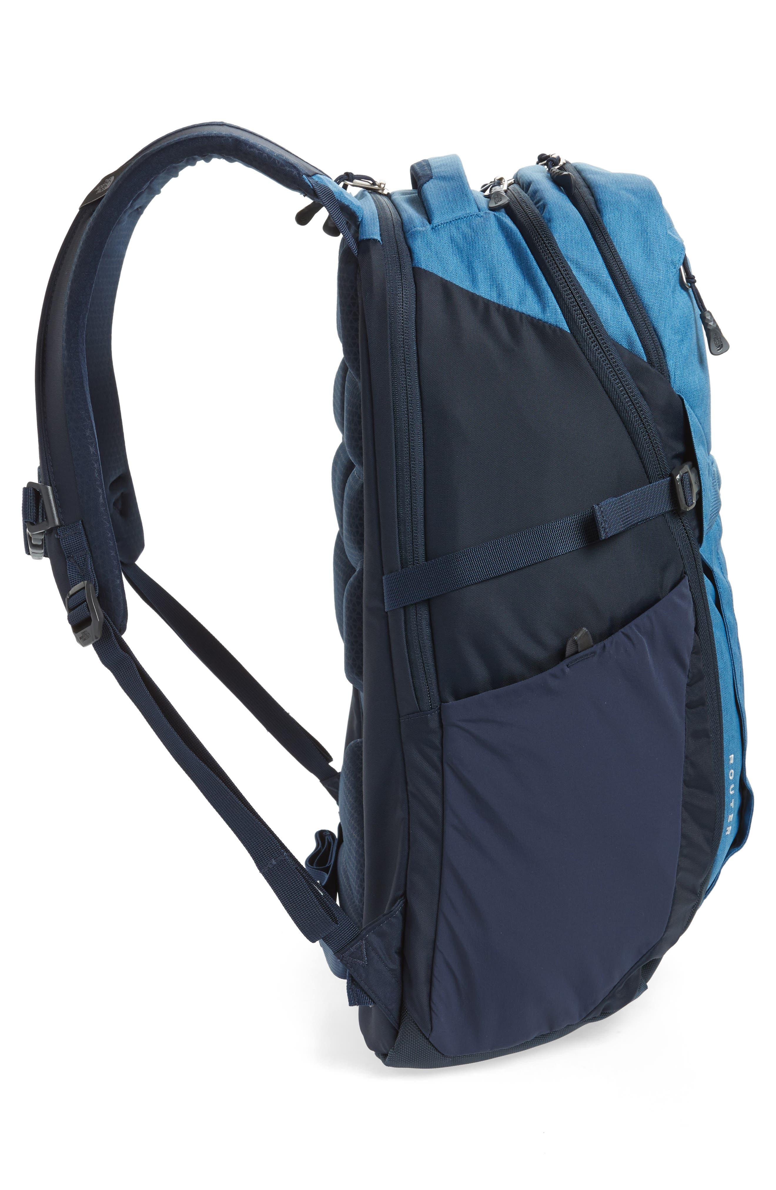 Router Backpack,                             Alternate thumbnail 5, color,                             DISH BLUE HEATHER/ URBAN NAVY