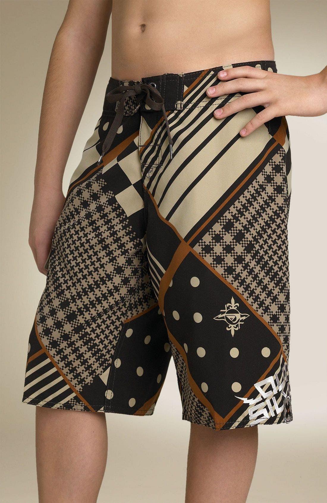 'Glamrock Holmes' Board Shorts,                         Main,                         color, DBR