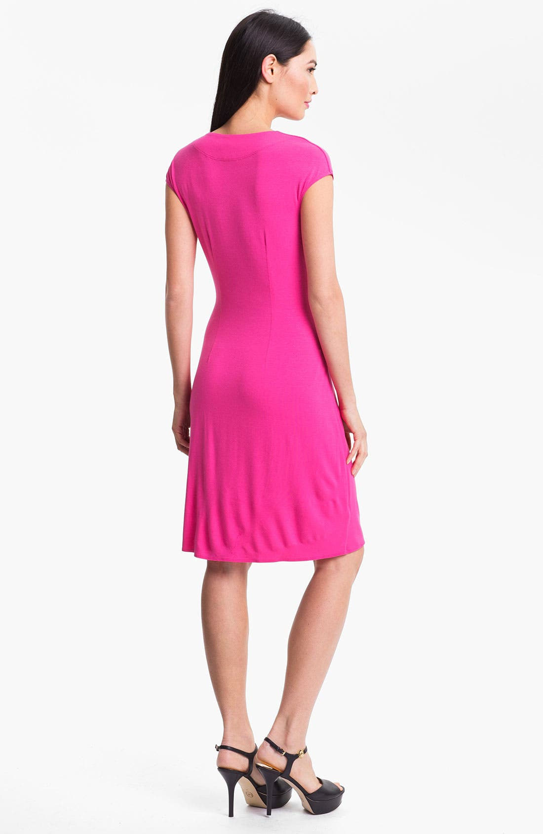 'Tambour' Side Gathered Dress,                             Alternate thumbnail 16, color,