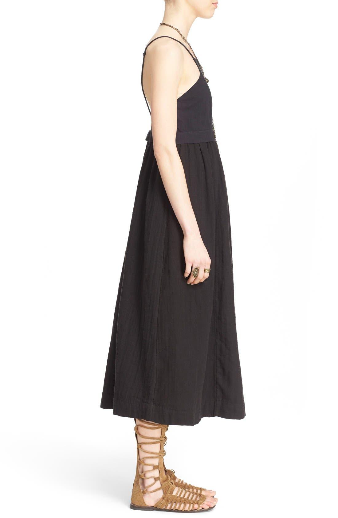 'Ojai' Cotton Midi Dress,                             Alternate thumbnail 2, color,                             001