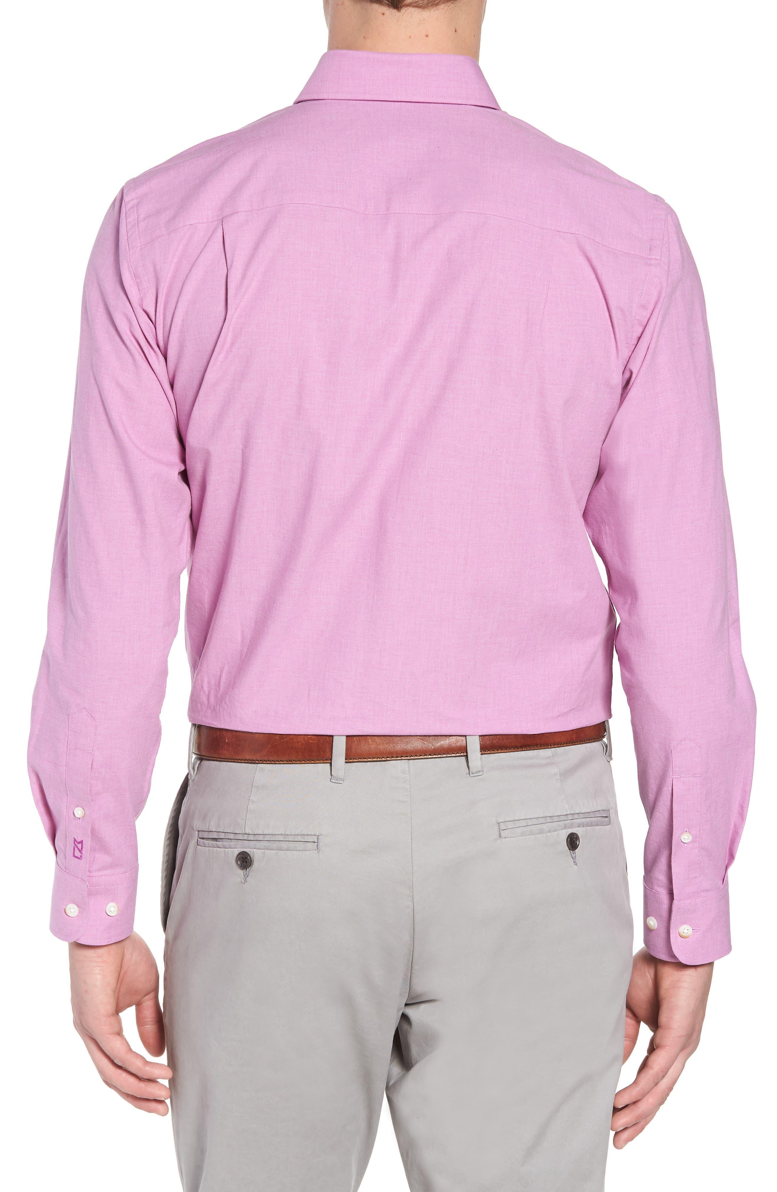 Heather Classic Fit No-Iron Sport Shirt,                             Alternate thumbnail 6, color,
