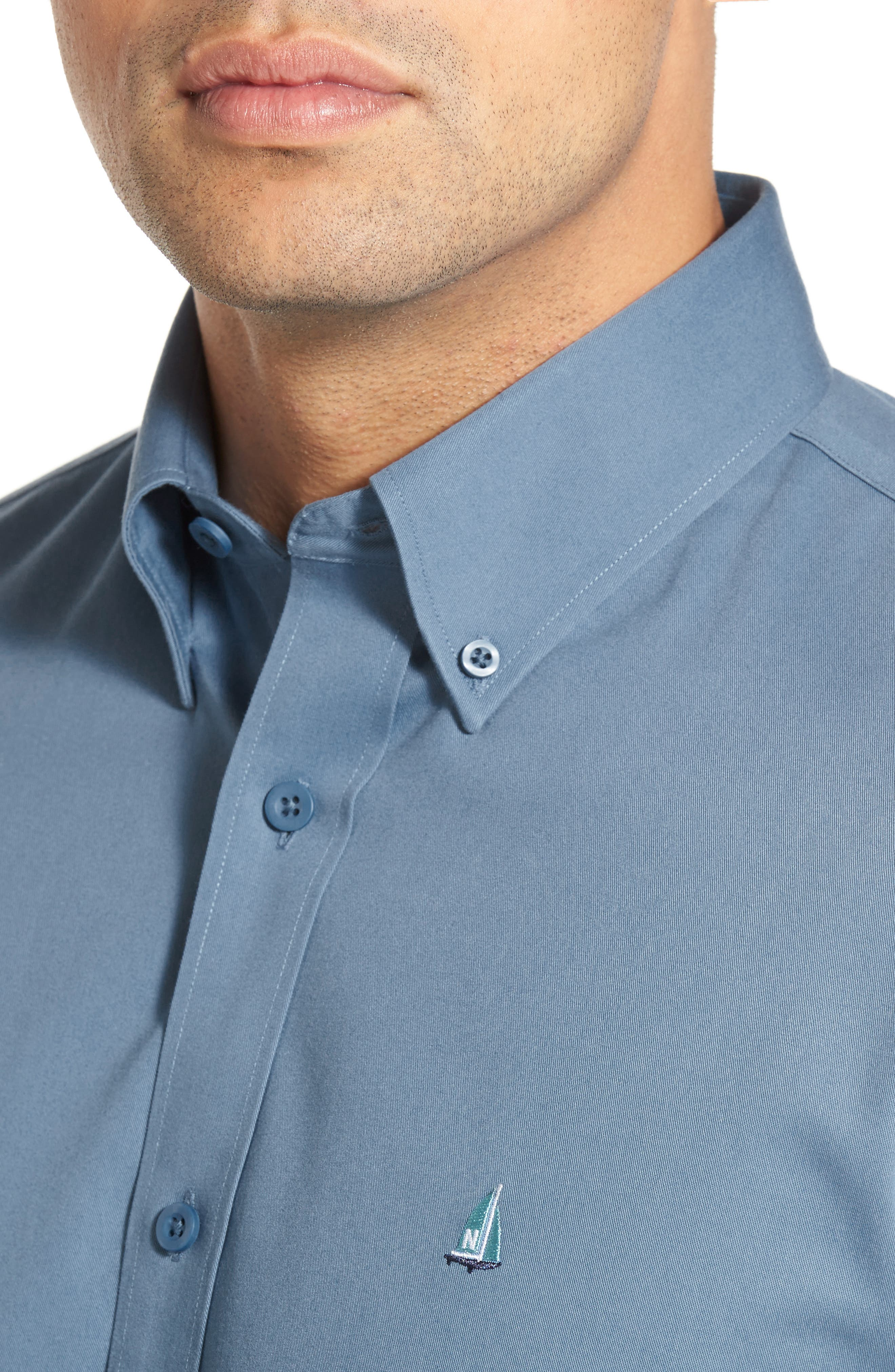 Smartcare<sup>™</sup> Traditional Fit Twill Boat Shirt,                             Alternate thumbnail 149, color,