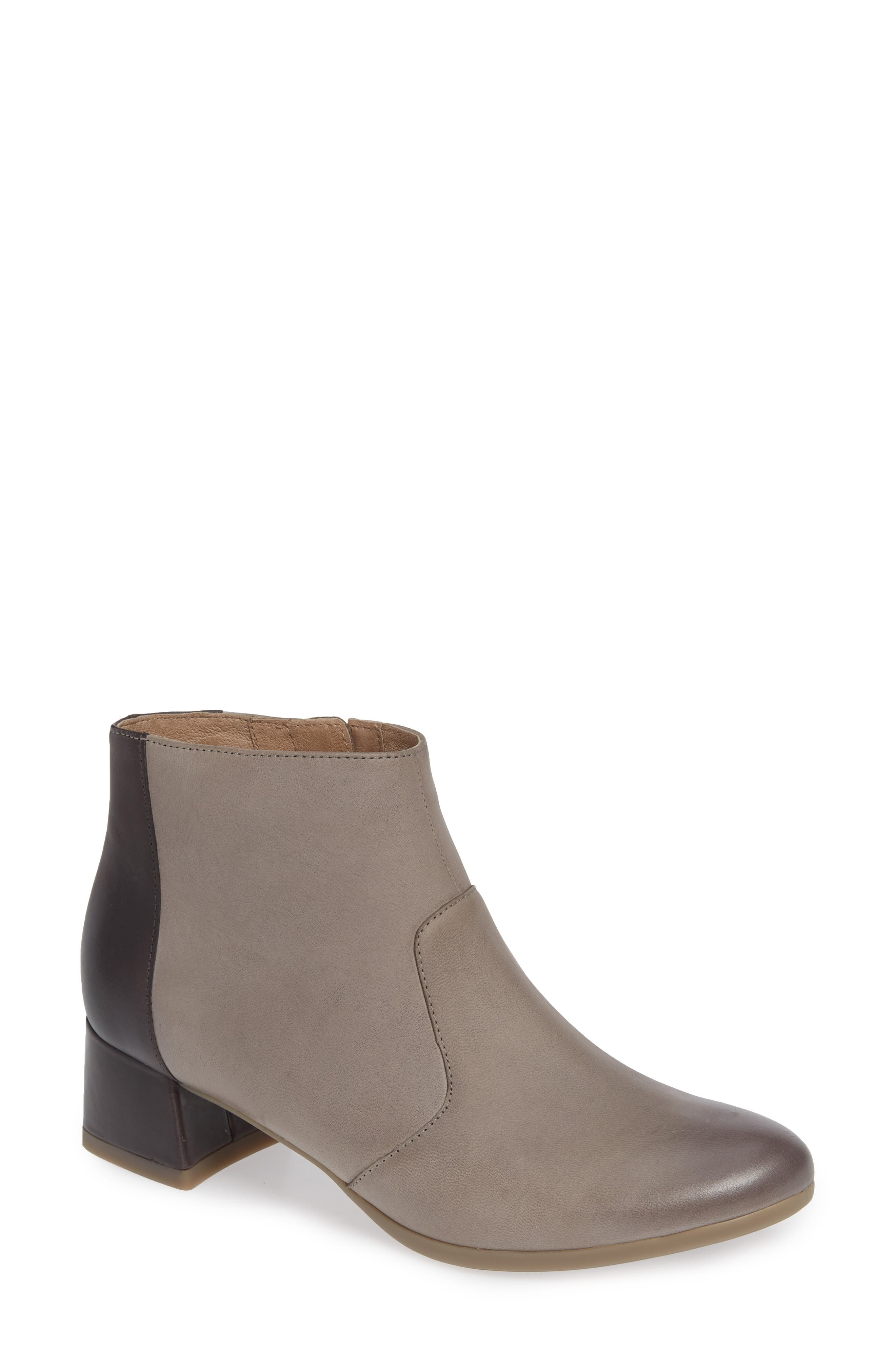 Petra Bootie,                             Main thumbnail 1, color,                             STONE BURNISHED NUBUCK LEATHER