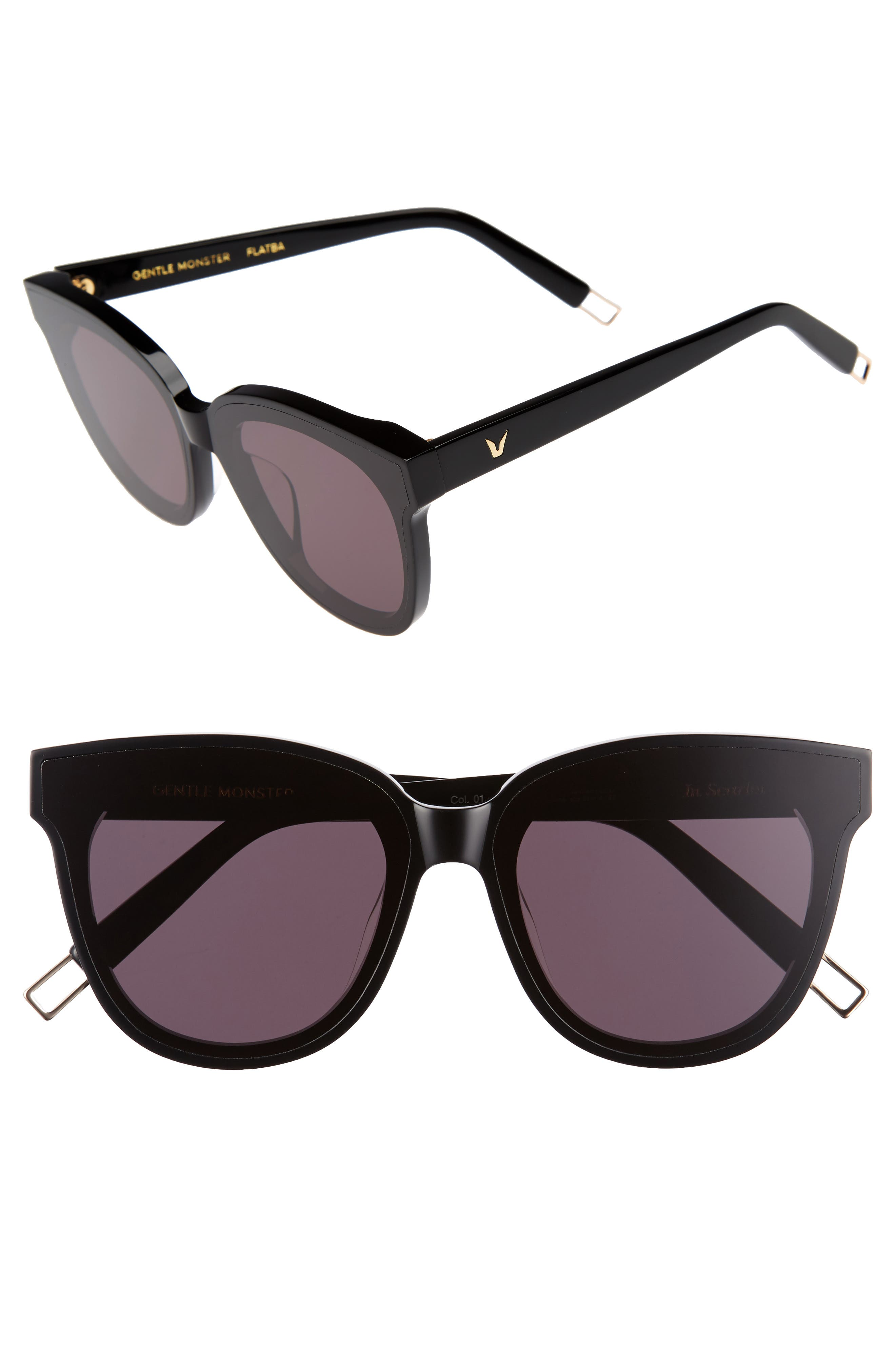 In Scarlet 68mm Oversize Cat Eye Sunglasses,                             Main thumbnail 1, color,                             001