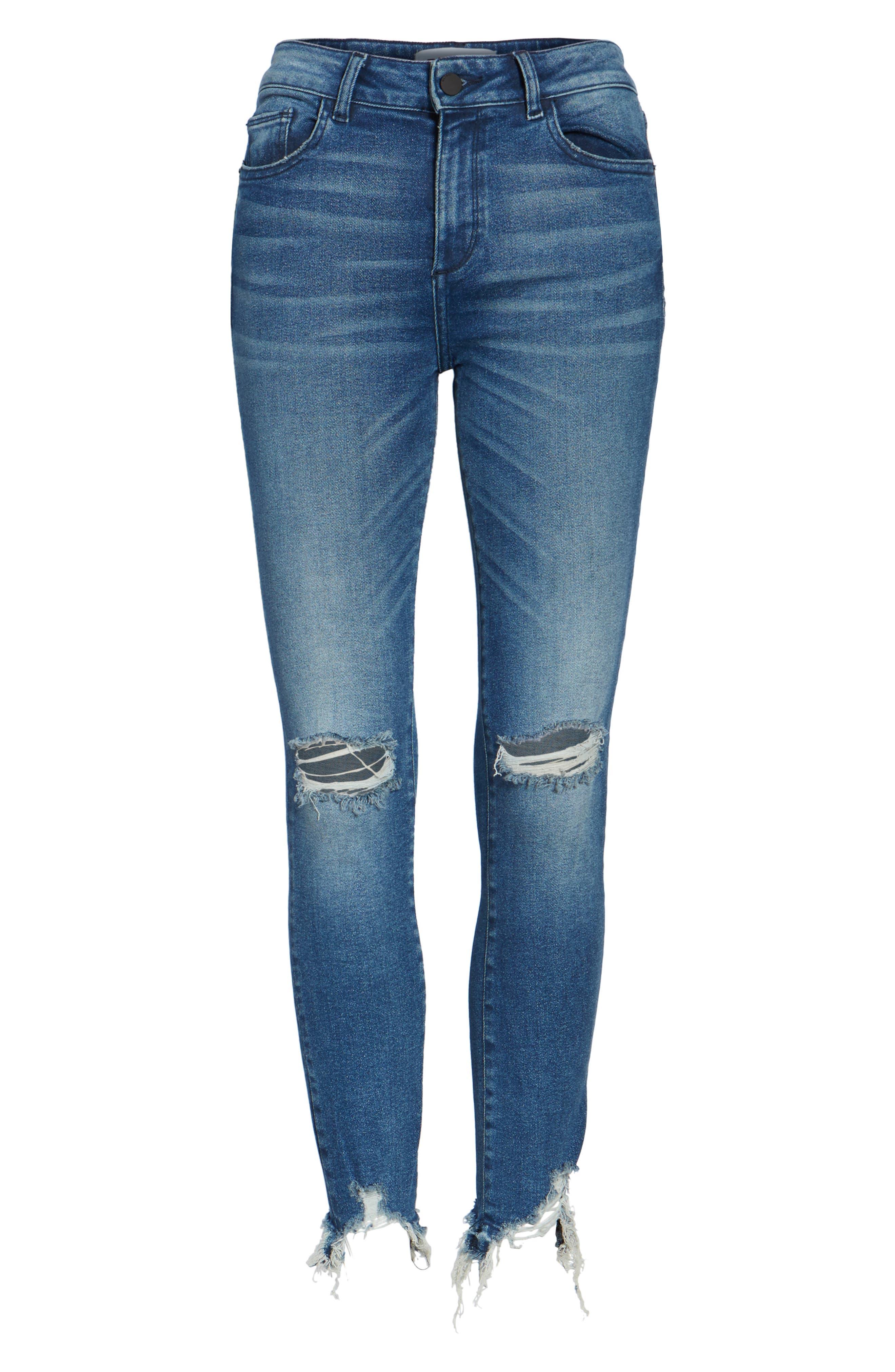 Farrow Instaslim High Waist Ankle Skinny Jeans,                             Alternate thumbnail 6, color,                             LARAMIE