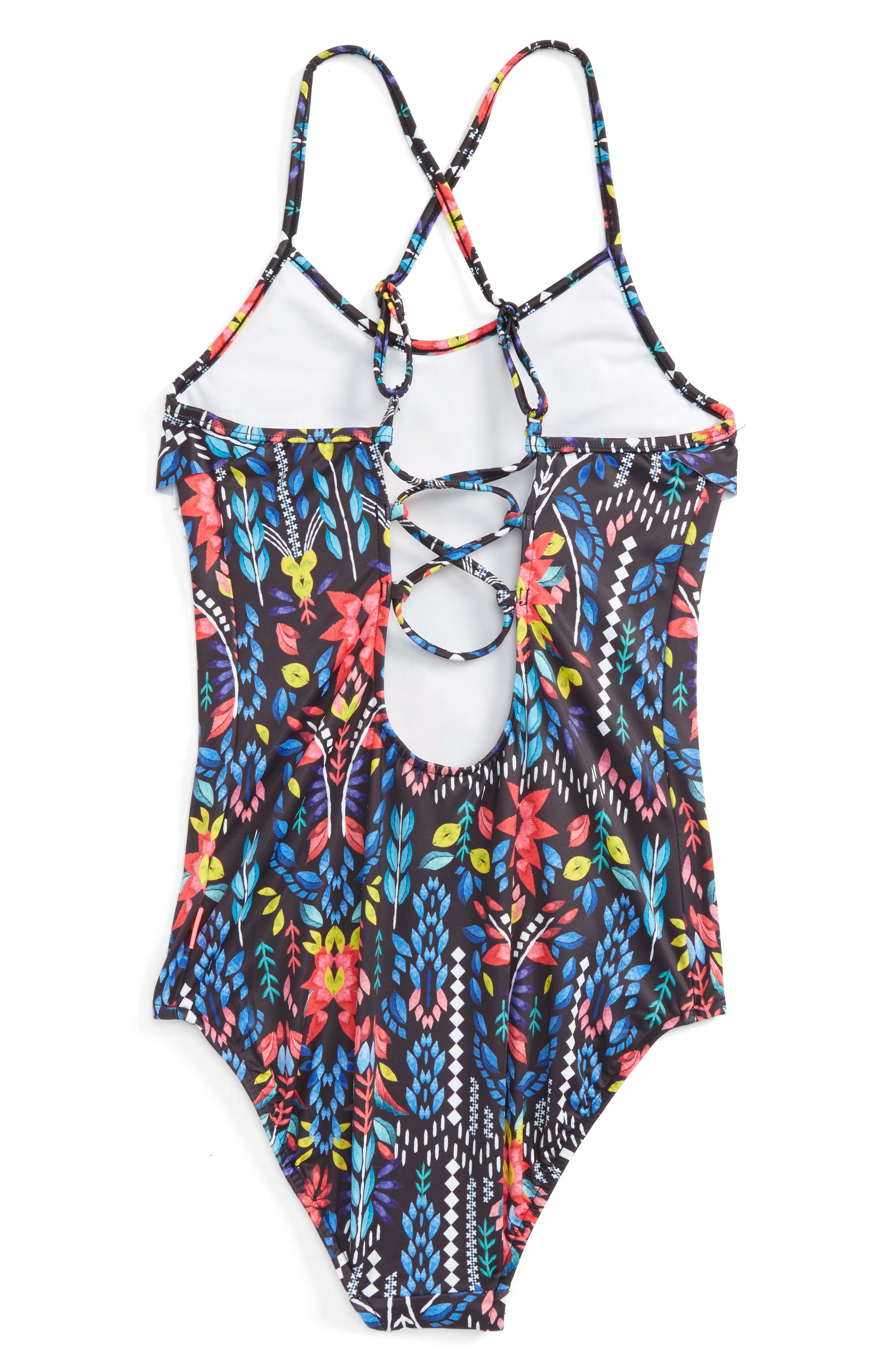 Mexicana Fiesta One-Piece Swimsuit,                             Alternate thumbnail 2, color,