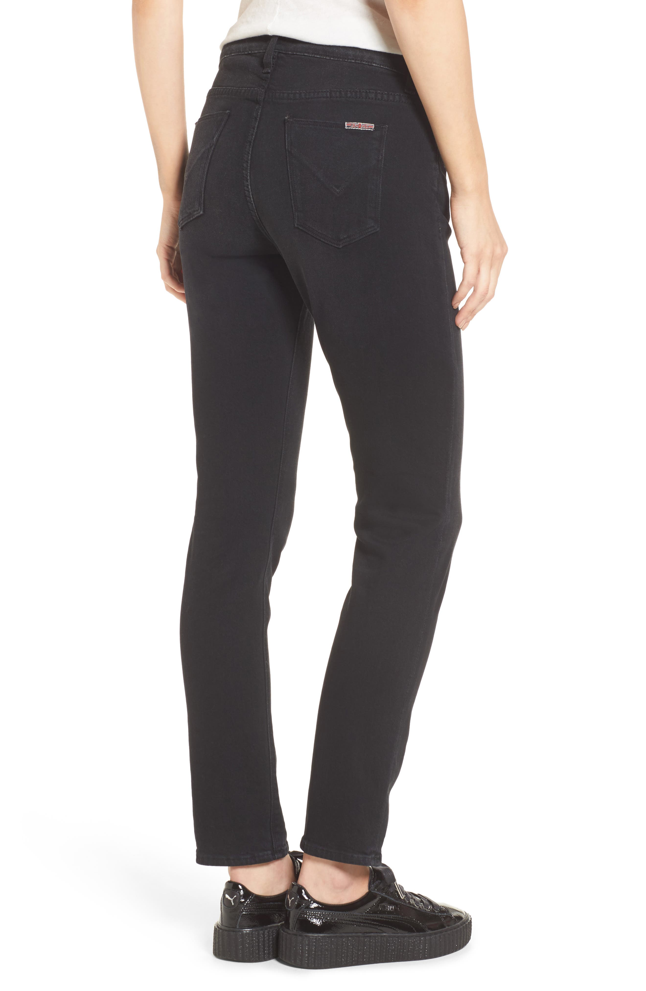 Riley Relaxed Straight Fit Jeans,                             Alternate thumbnail 2, color,                             001