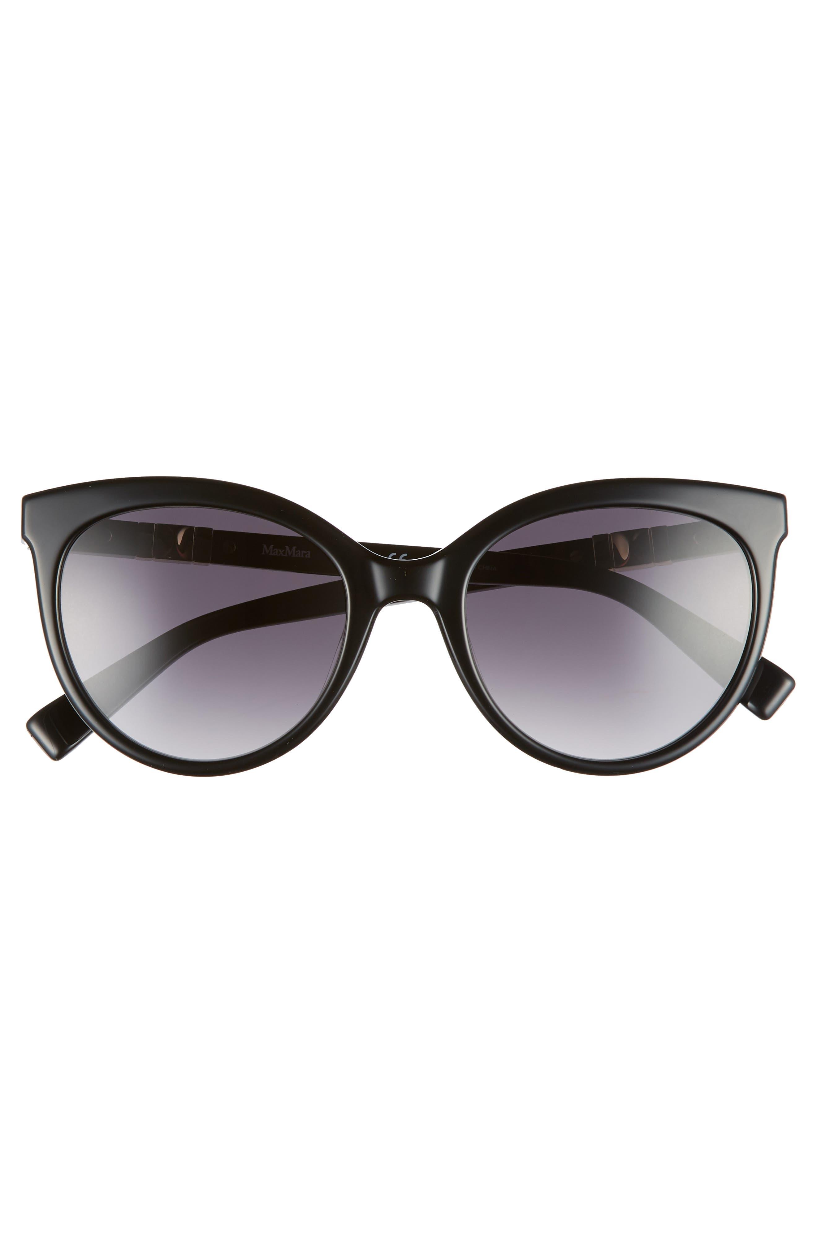 Jeweliis 54mm Gradient Cat Eye Sunglasses,                             Alternate thumbnail 3, color,                             BLACK