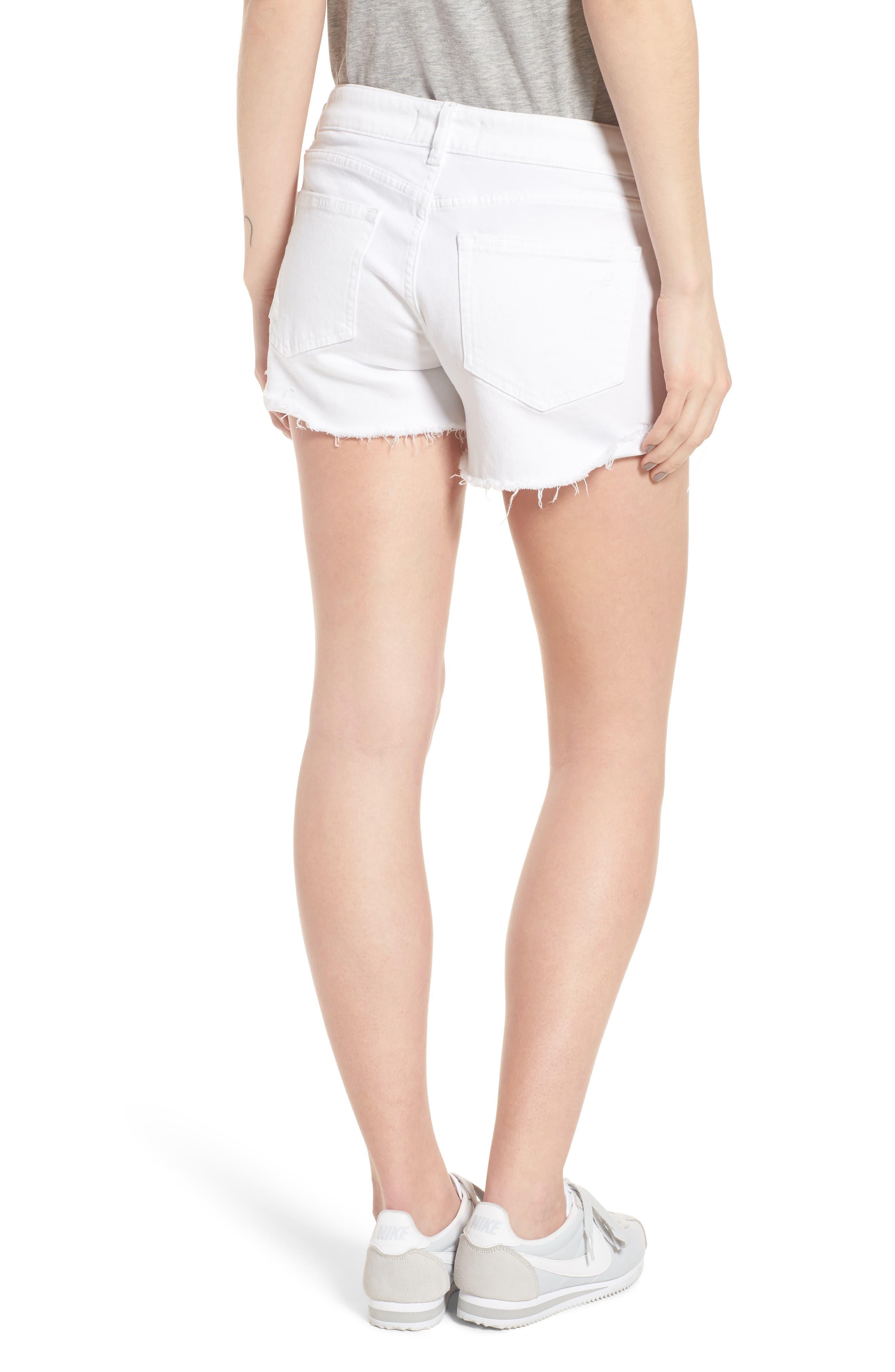 Karlie Cutoff Denim Boyfriend Shorts,                             Alternate thumbnail 2, color,                             100