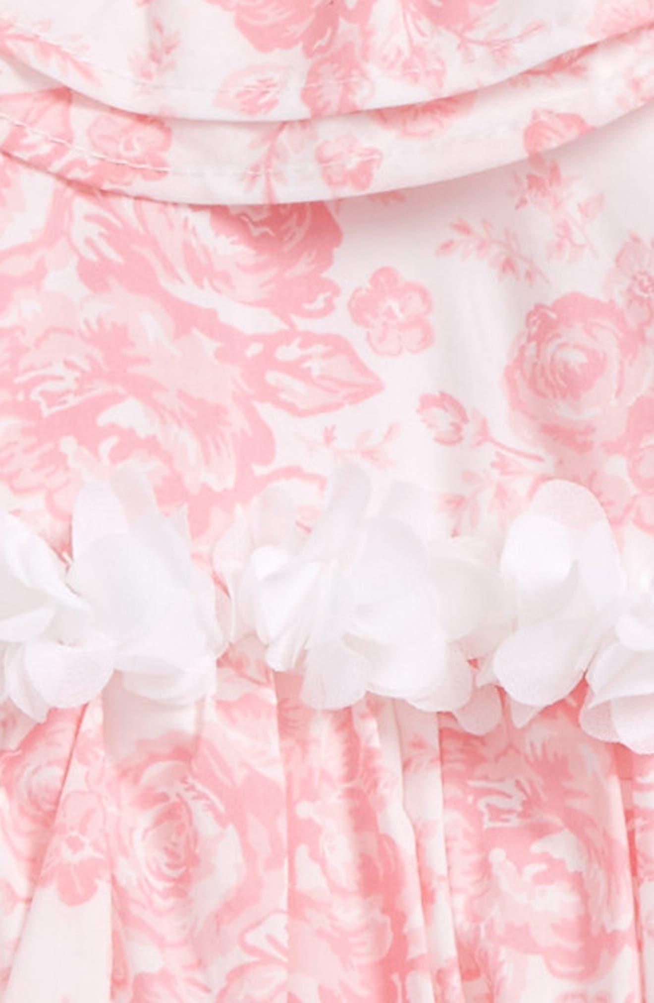 Rose Bouquet Dress & Headband Set,                             Alternate thumbnail 2, color,