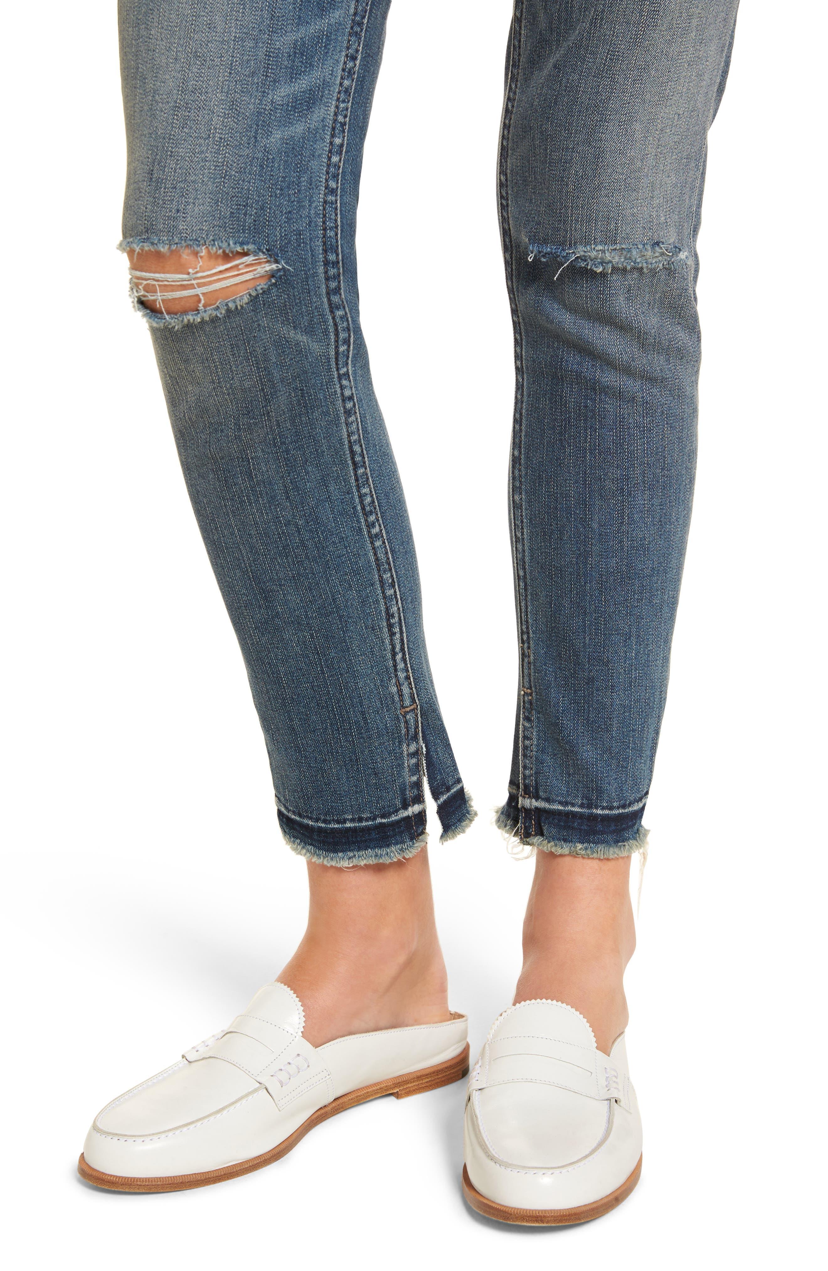 Ankle Skinny Jeans,                             Alternate thumbnail 4, color,                             400