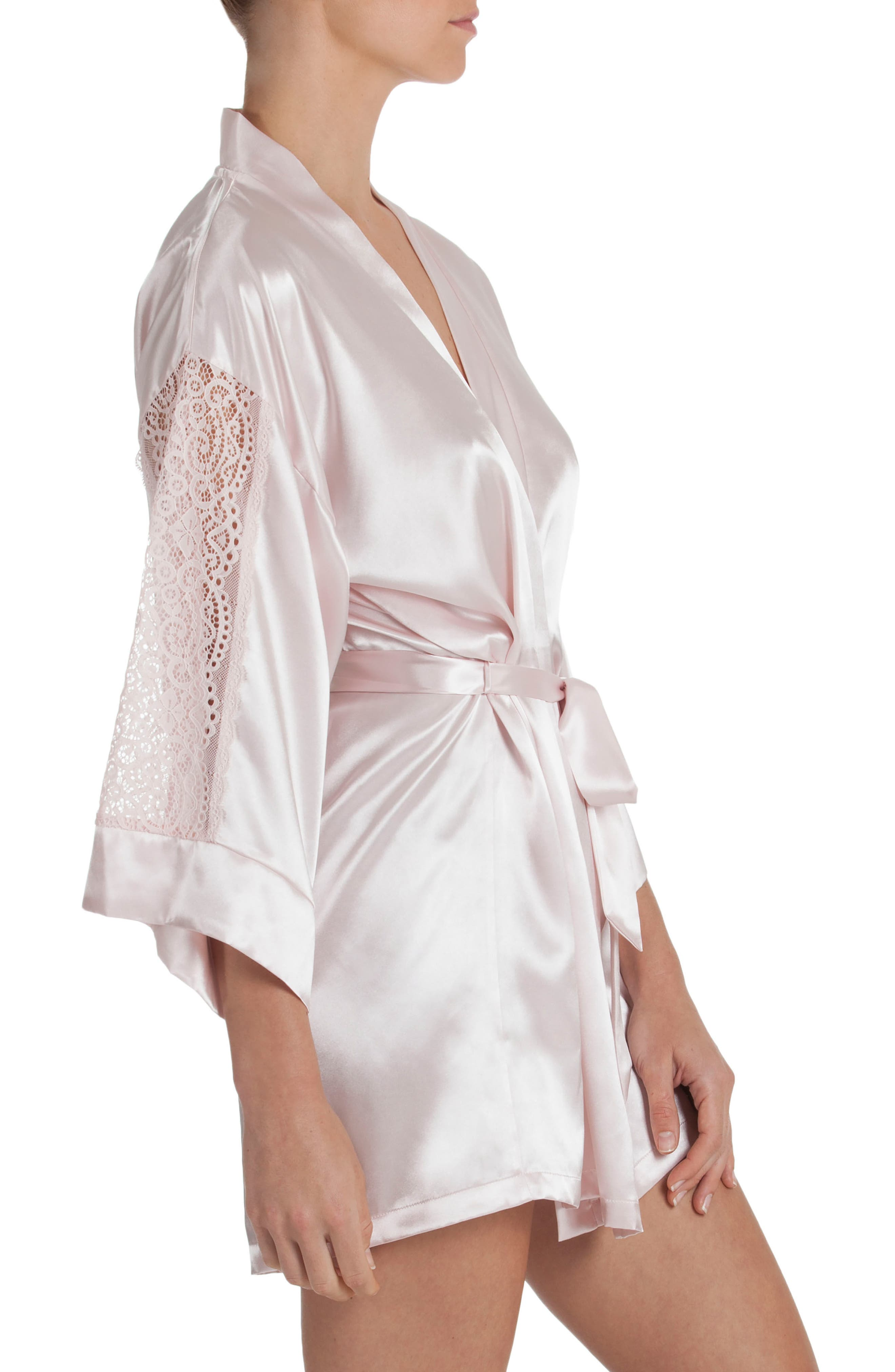 IN BLOOM BY JONQUIL,                             Satin Robe,                             Alternate thumbnail 3, color,                             950