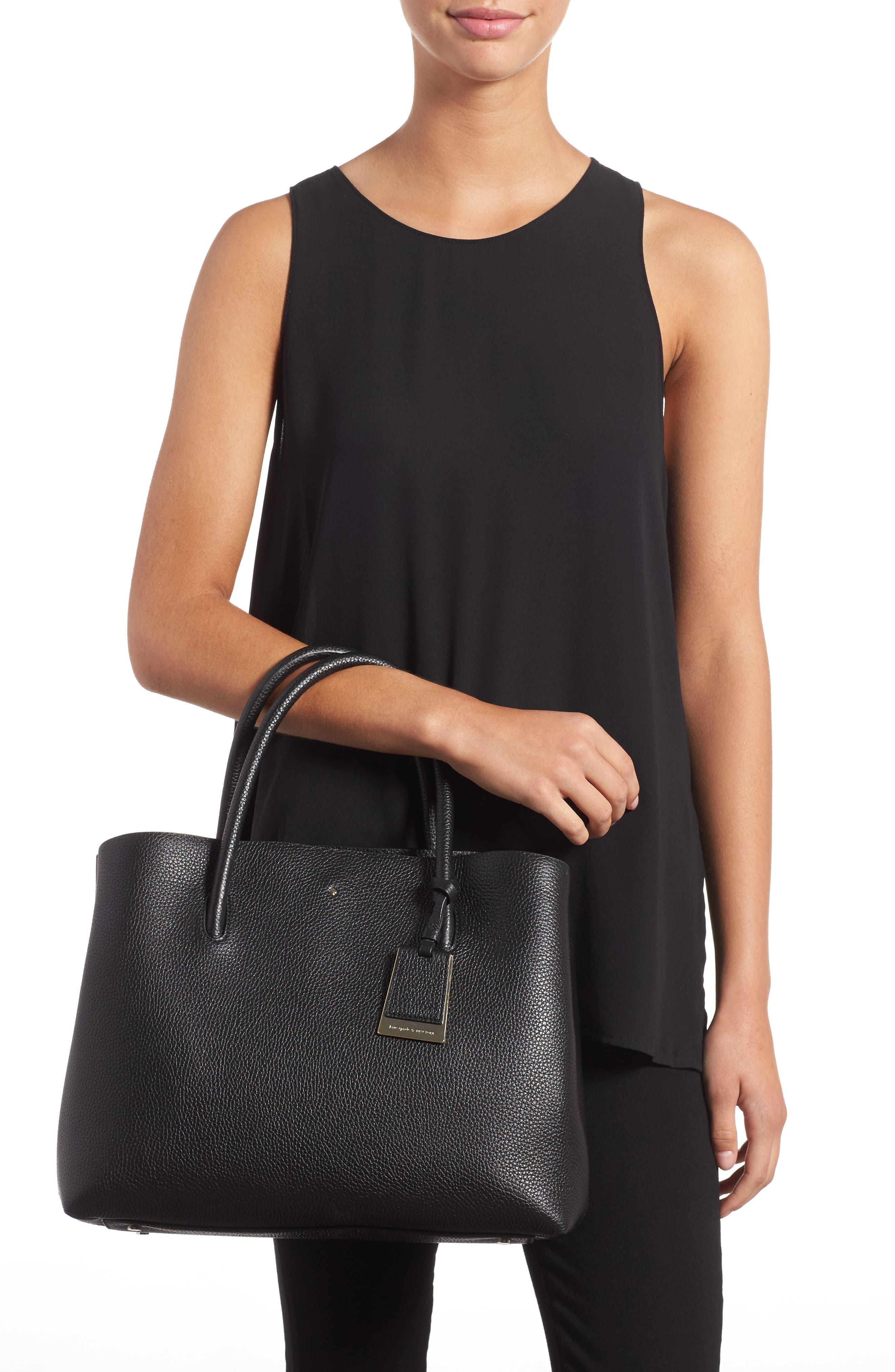 large madison knollwood drive - celestina leather satchel,                             Alternate thumbnail 2, color,                             001