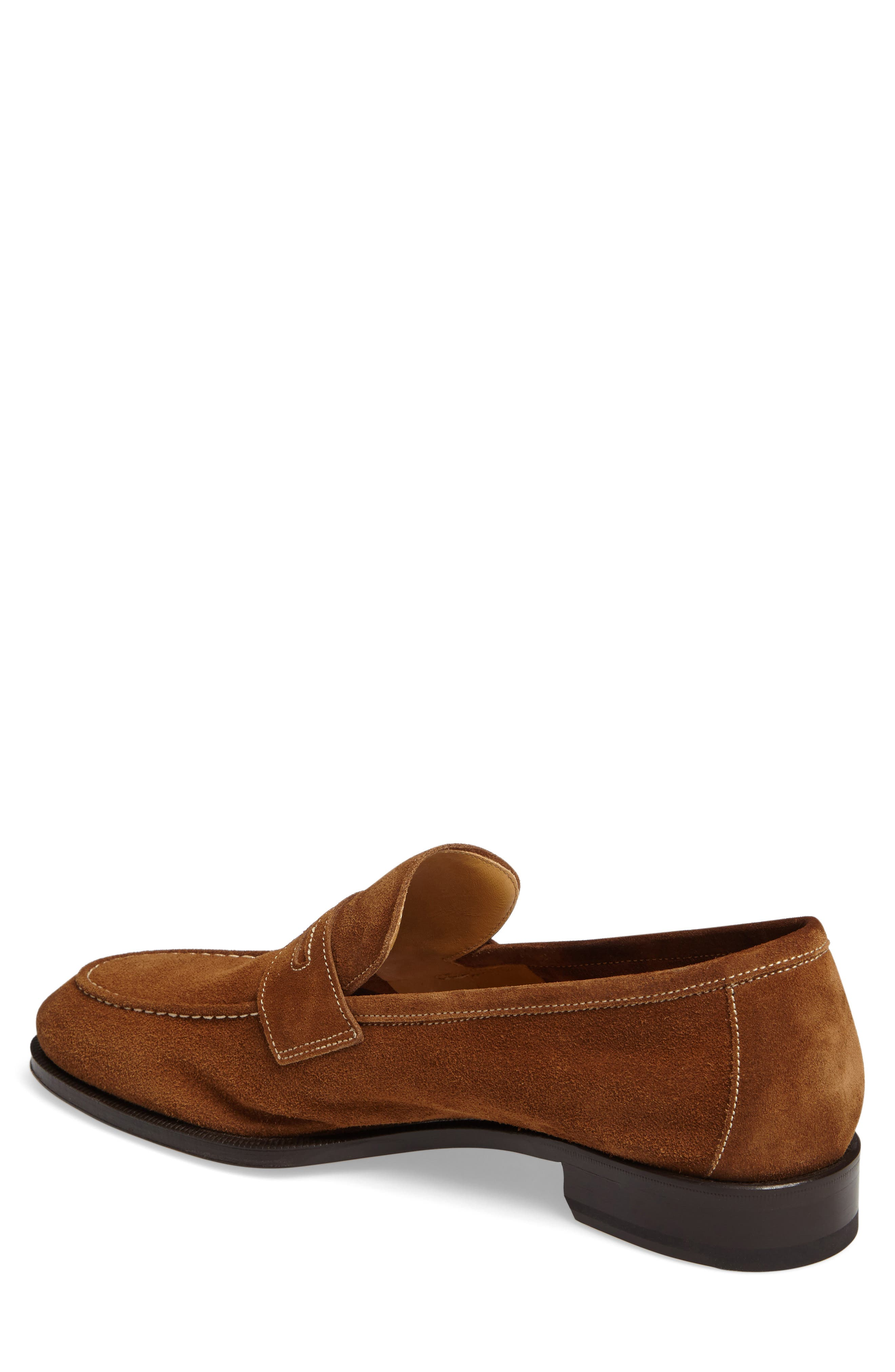 Leather Penny Loafer,                             Alternate thumbnail 7, color,