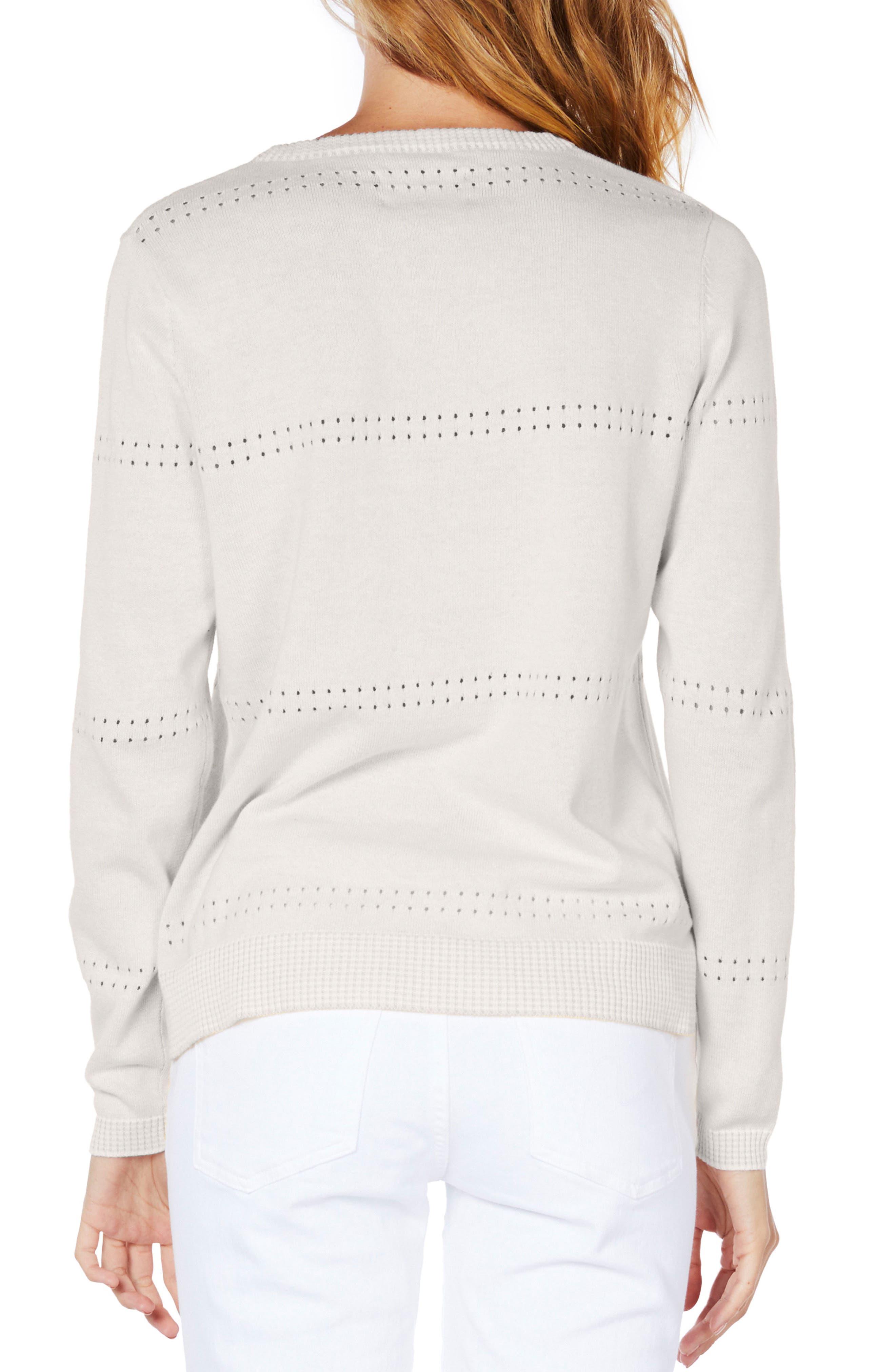 Slit Sleeve Reversible Sweater,                             Alternate thumbnail 3, color,
