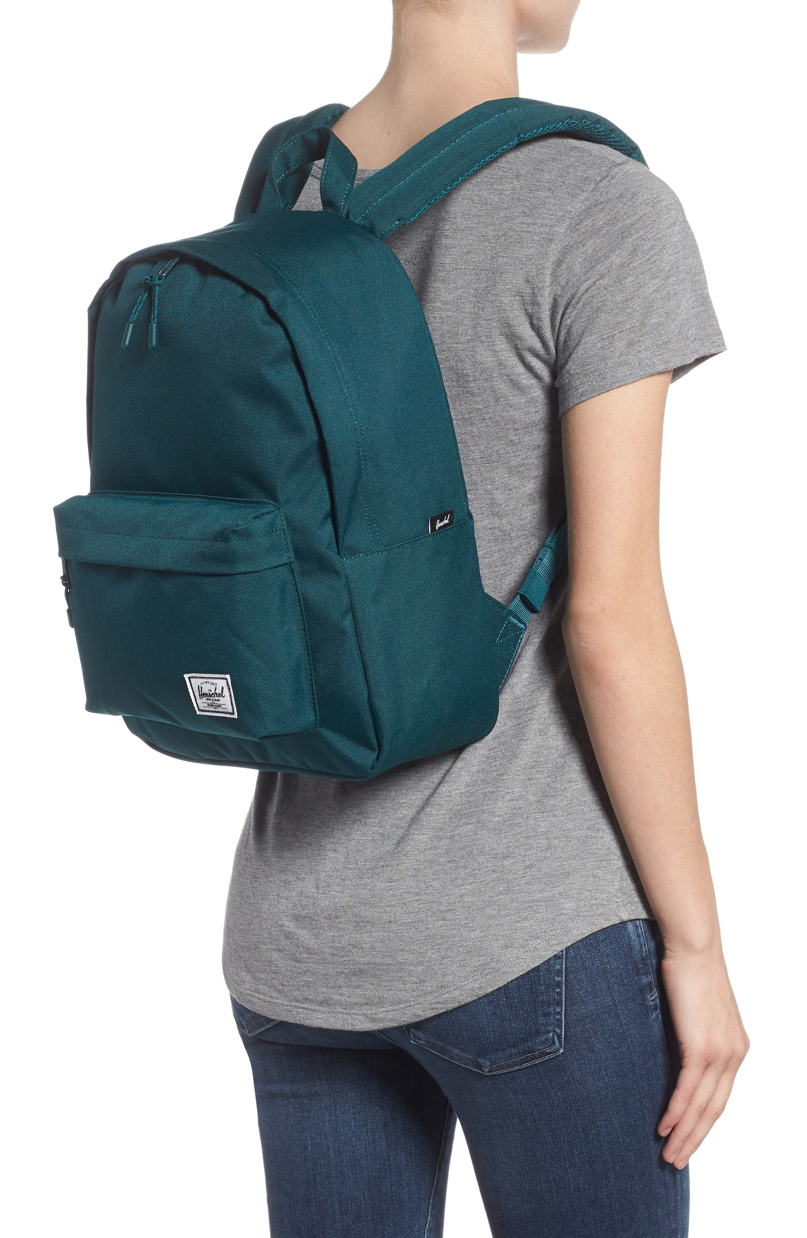 Classic Mid Volume Backpack,                             Alternate thumbnail 2, color,                             DEEP TEAL