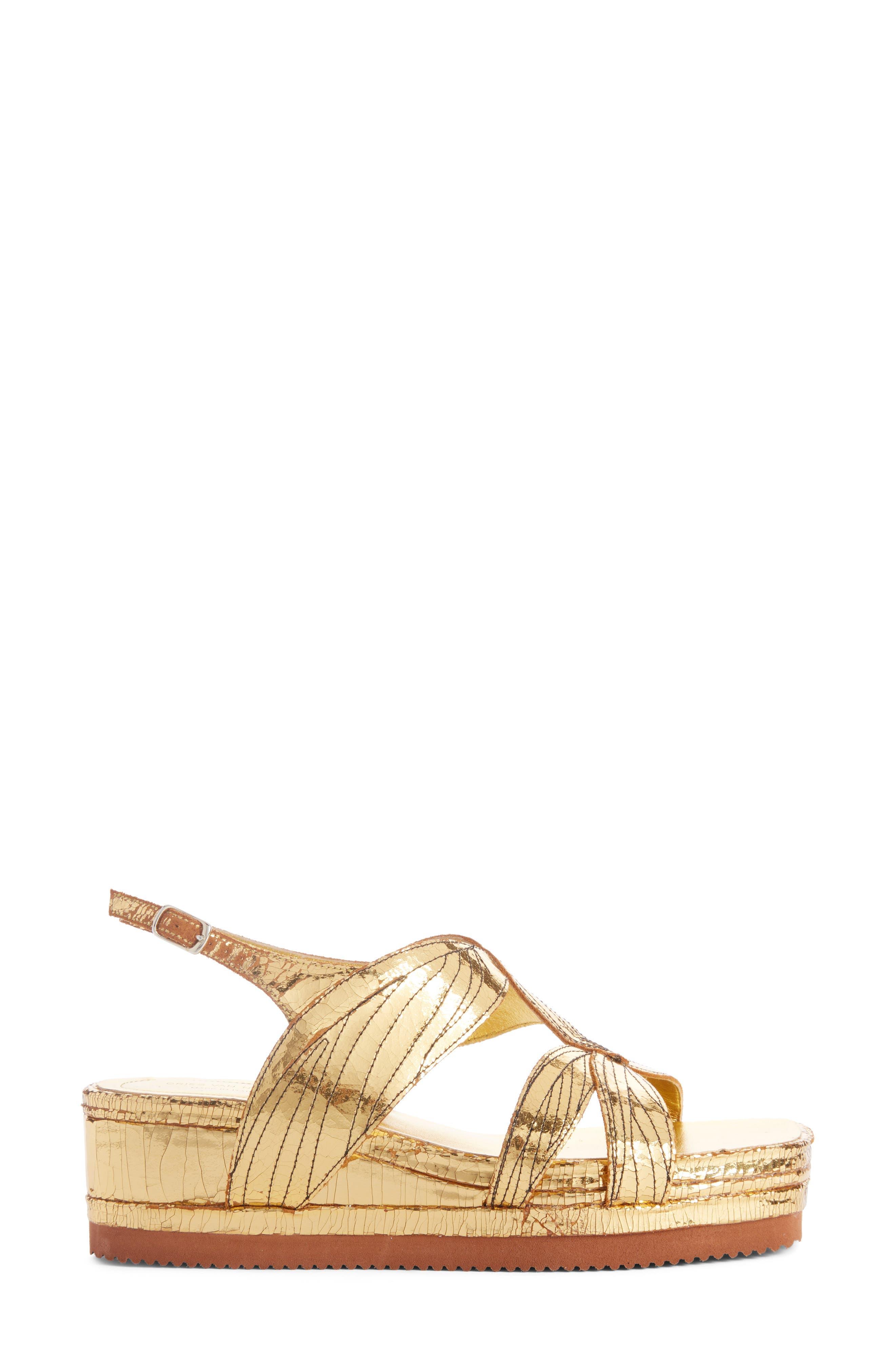Metallic Sandal,                             Alternate thumbnail 3, color,                             710