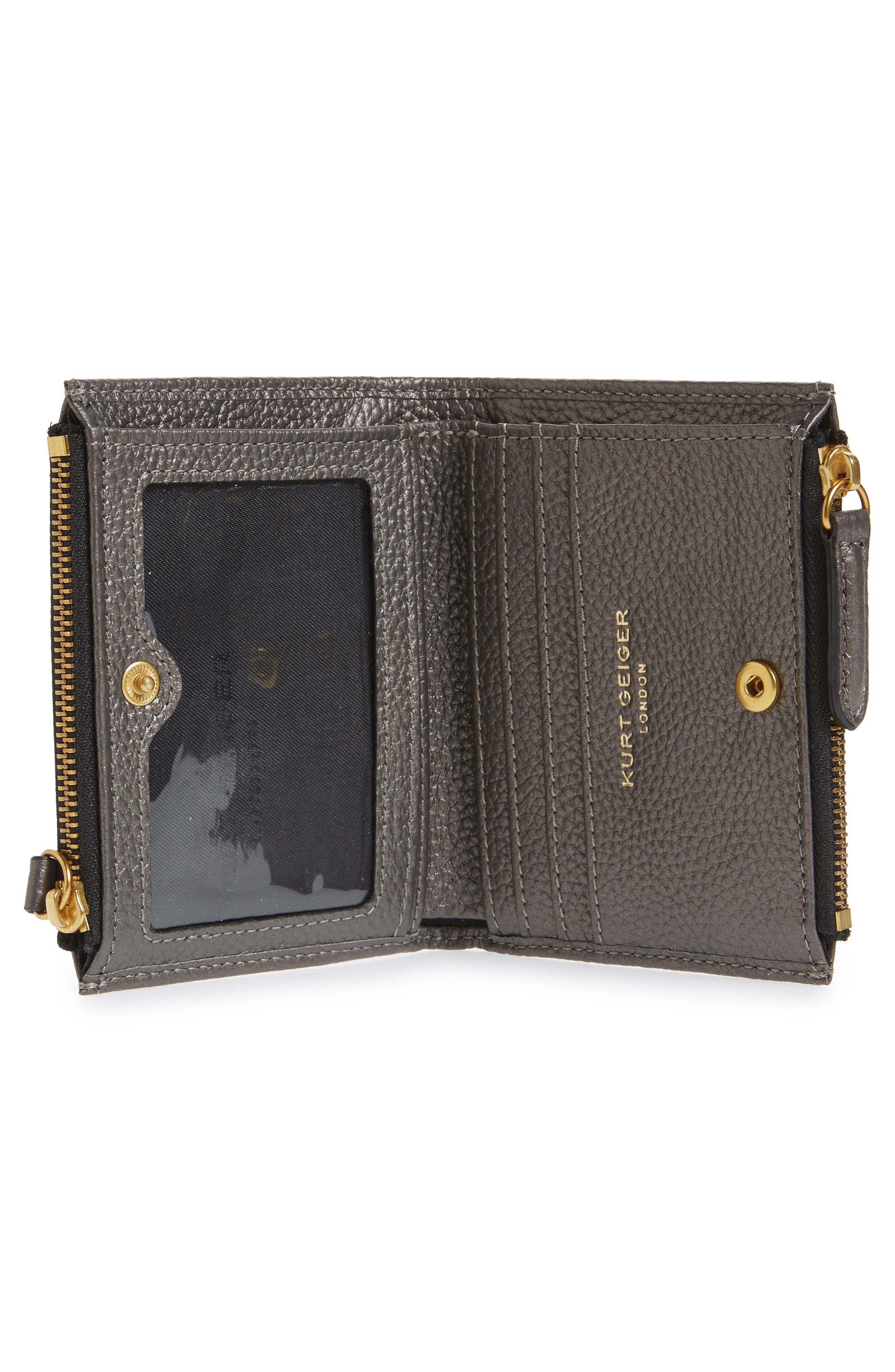 E Leather Wallet,                             Alternate thumbnail 6, color,