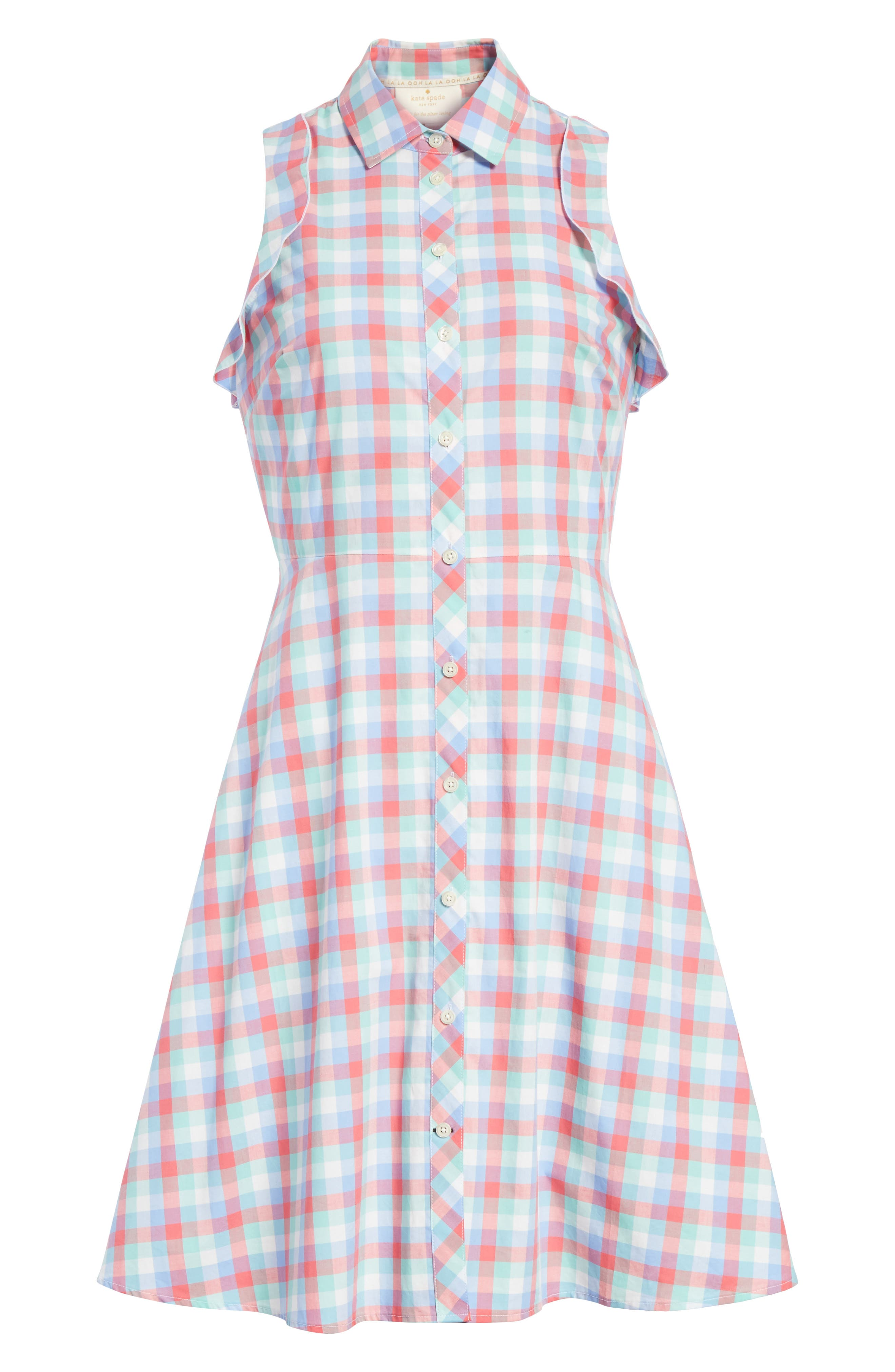 madras poplin shirtdress,                             Alternate thumbnail 6, color,