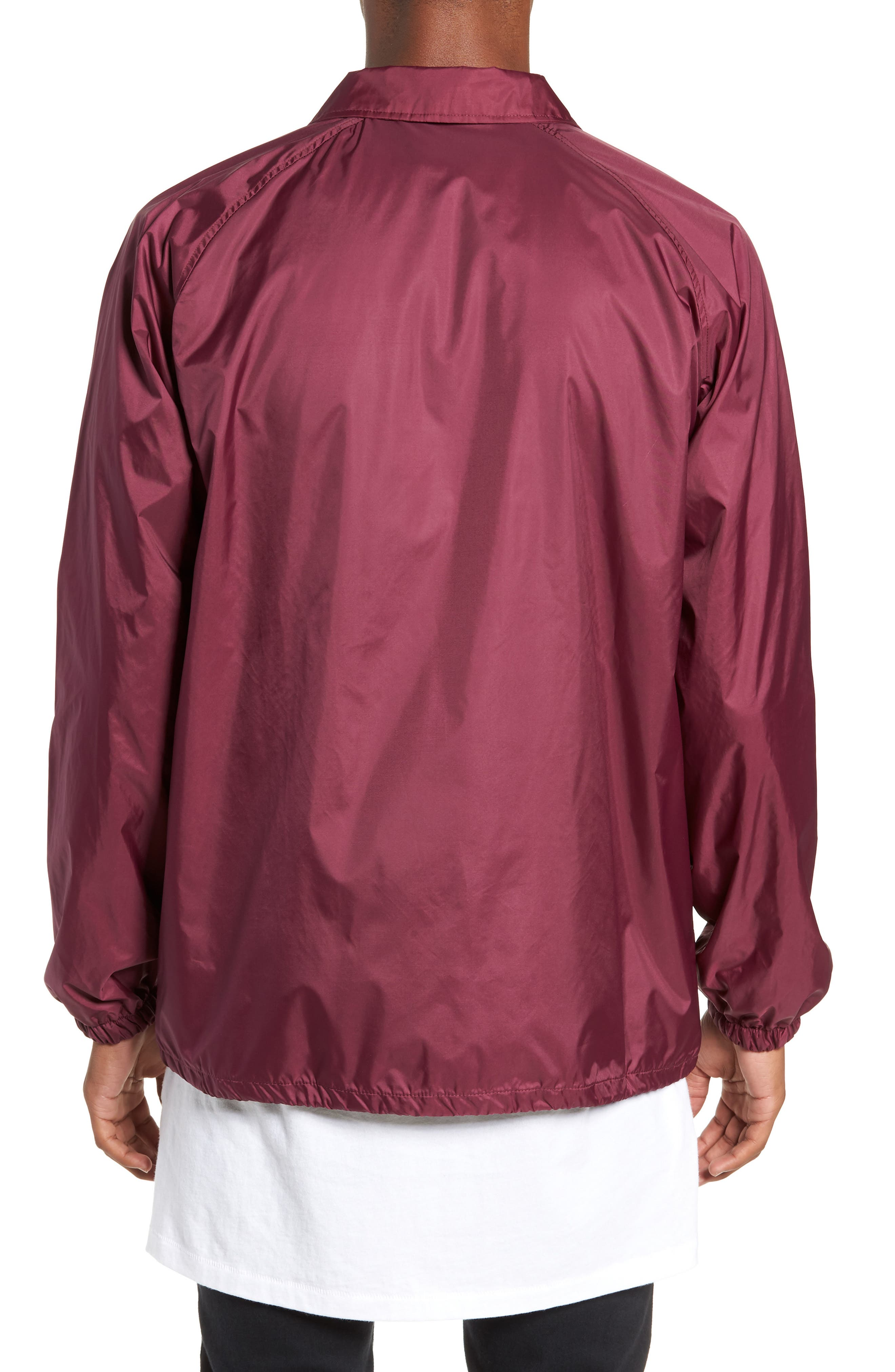 Anyway Snap Front Hooded Coach's Jacket,                             Alternate thumbnail 2, color,                             RASPBERRY