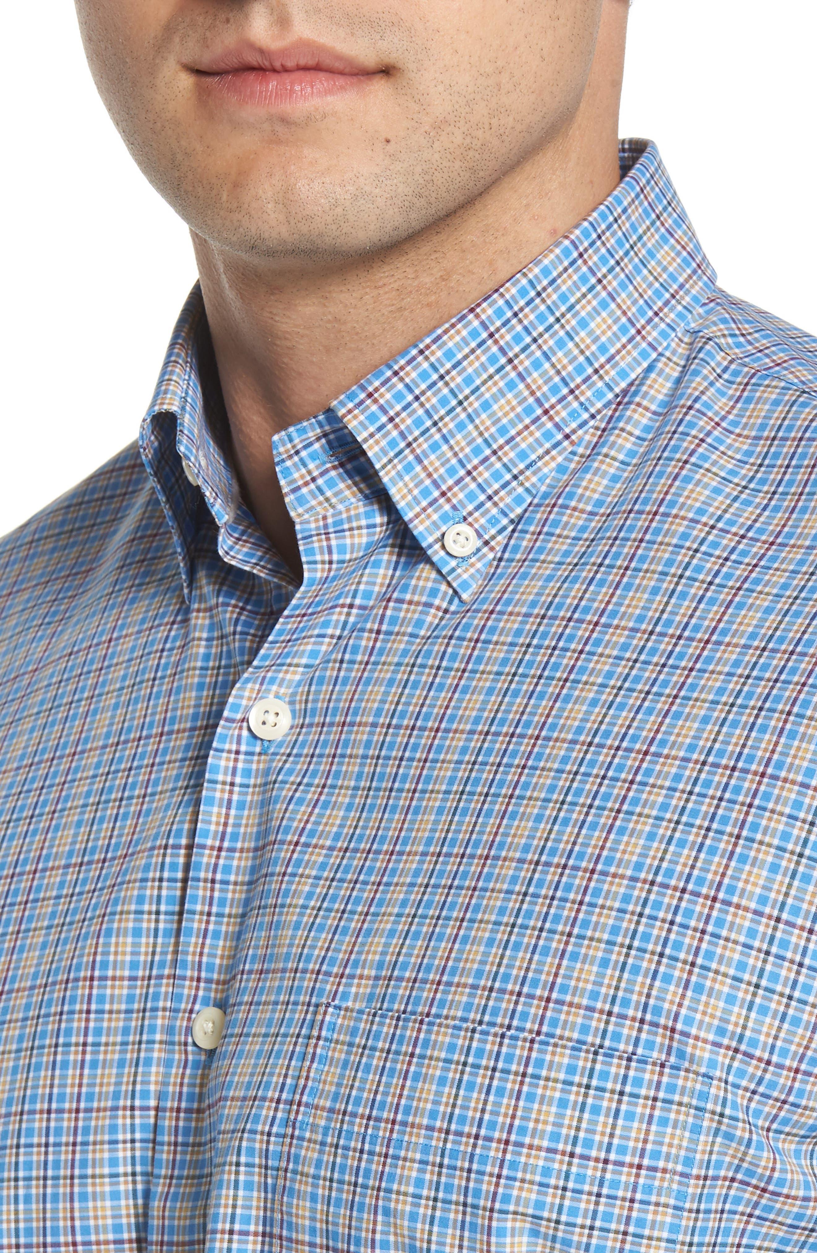 Fremont Regular Fit Multicheck Sport Shirt,                             Alternate thumbnail 4, color,                             485