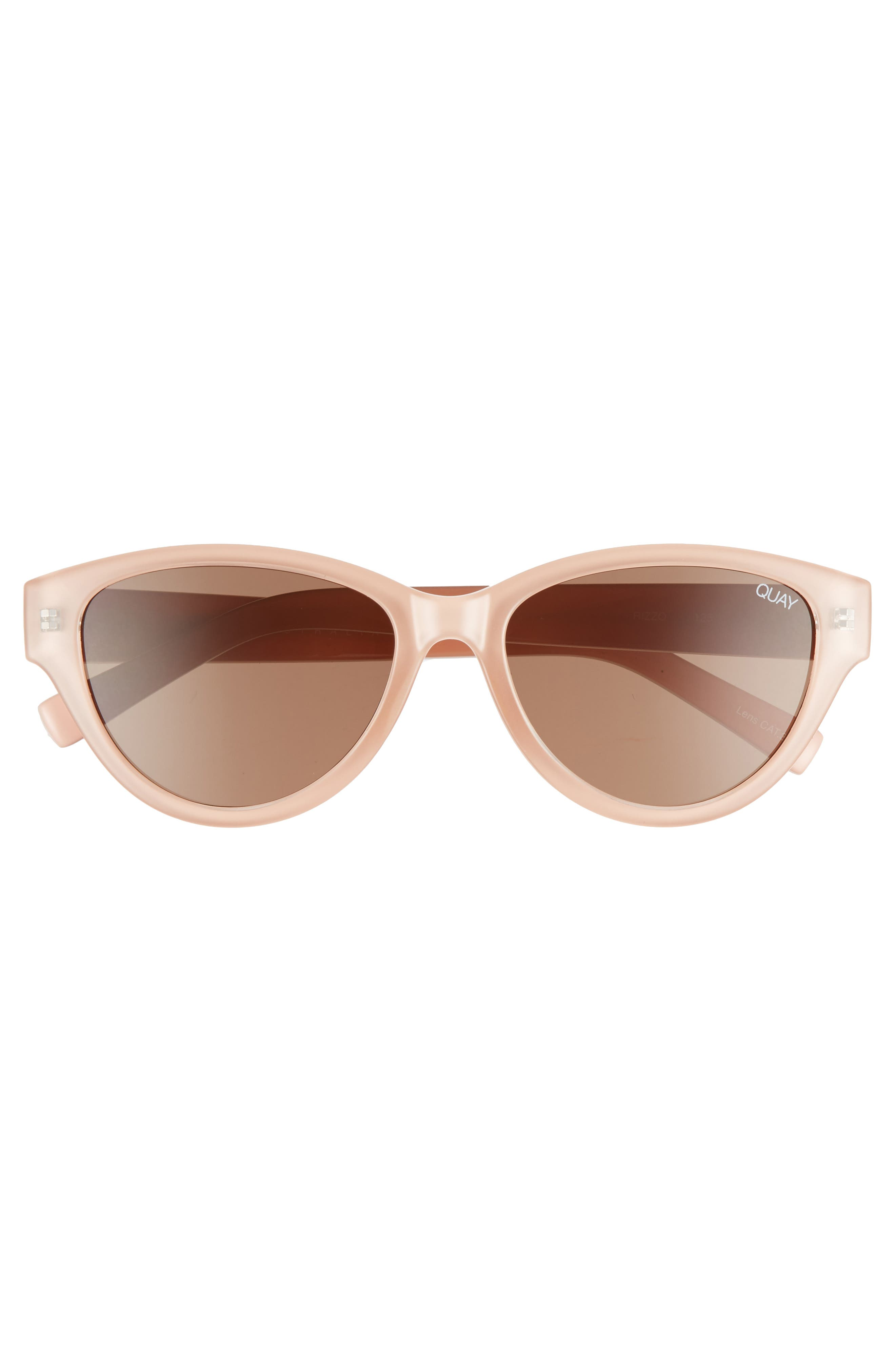 Rizzo 55mm Cat Eye Sunglasses,                             Alternate thumbnail 3, color,                             CREAM/ BROWN