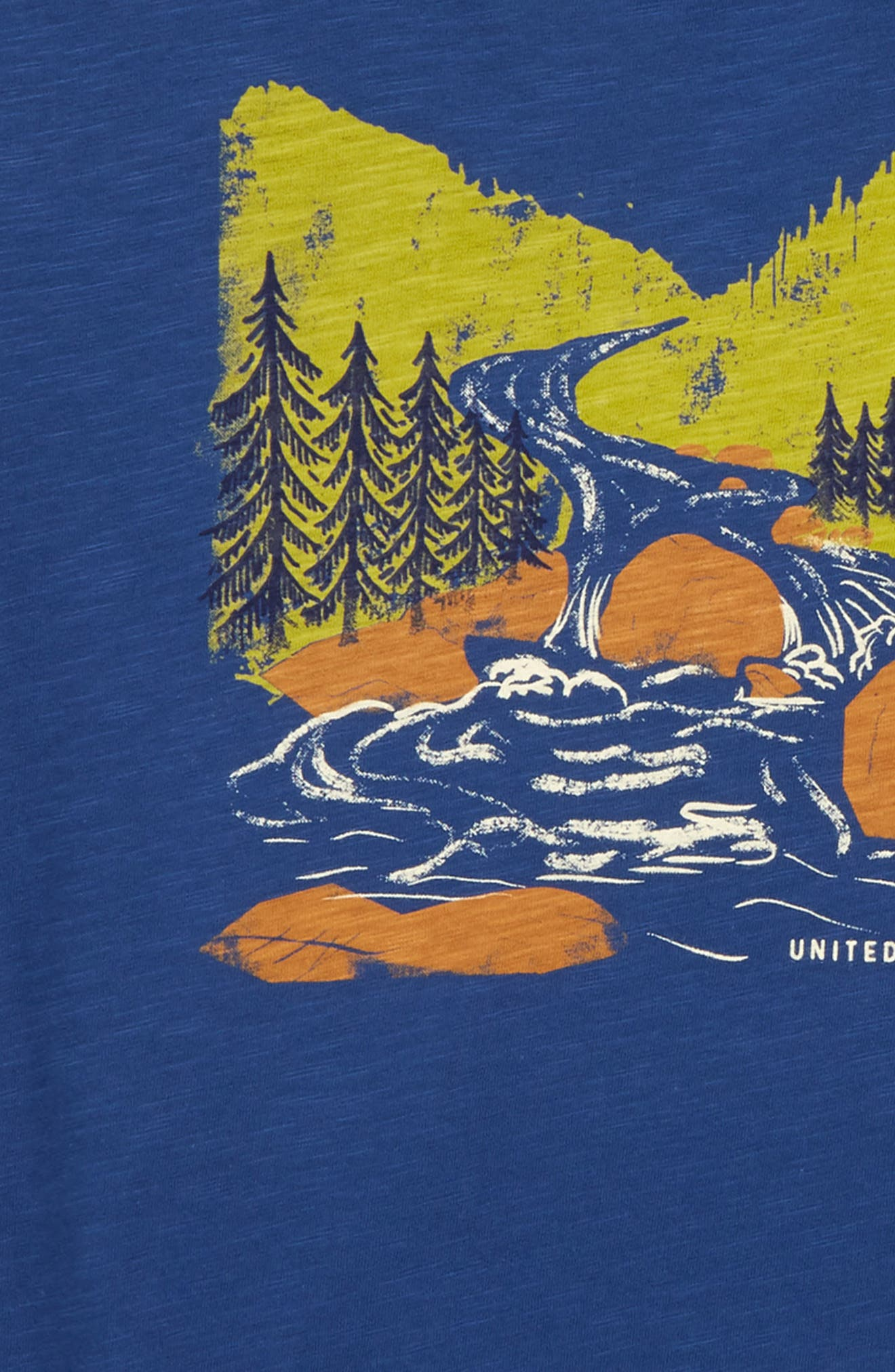 Woodcut River Organic Cotton T-Shirt,                             Alternate thumbnail 2, color,                             410