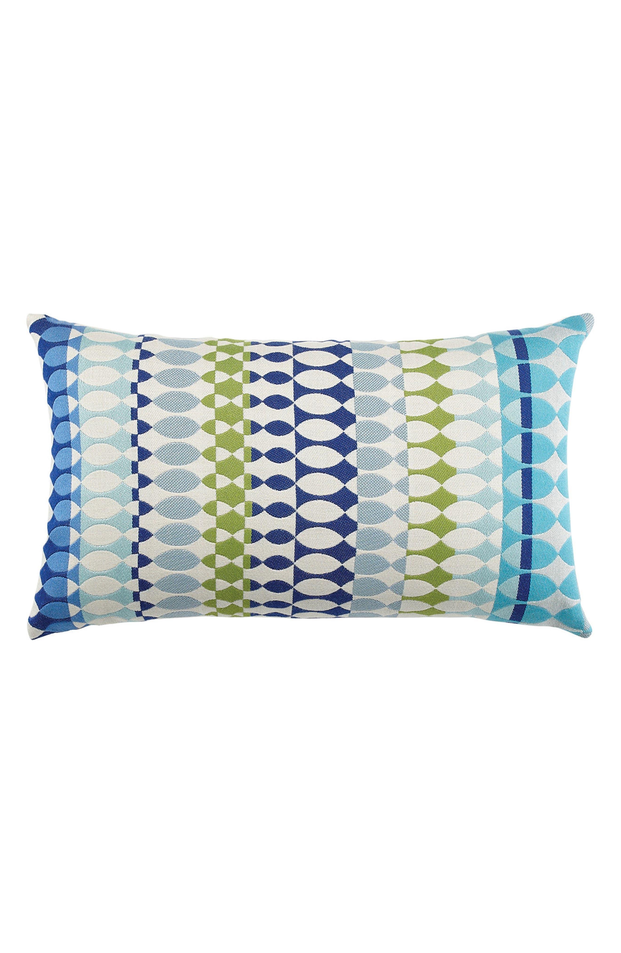 ELAINE SMITH Modern Oval Ocean Lumbar Pillow, Main, color, 400