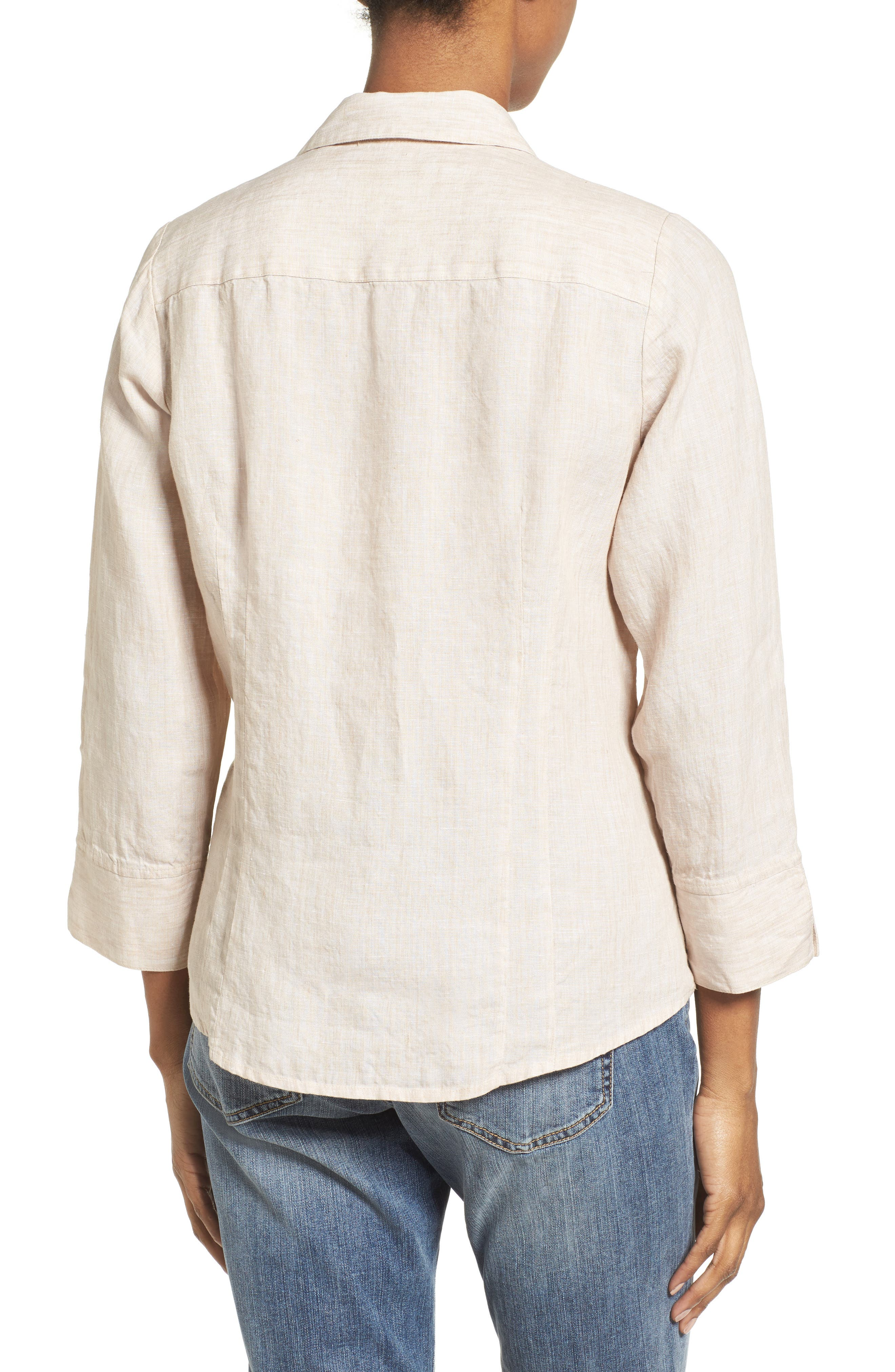 Linen Chambray Shirt,                             Alternate thumbnail 11, color,