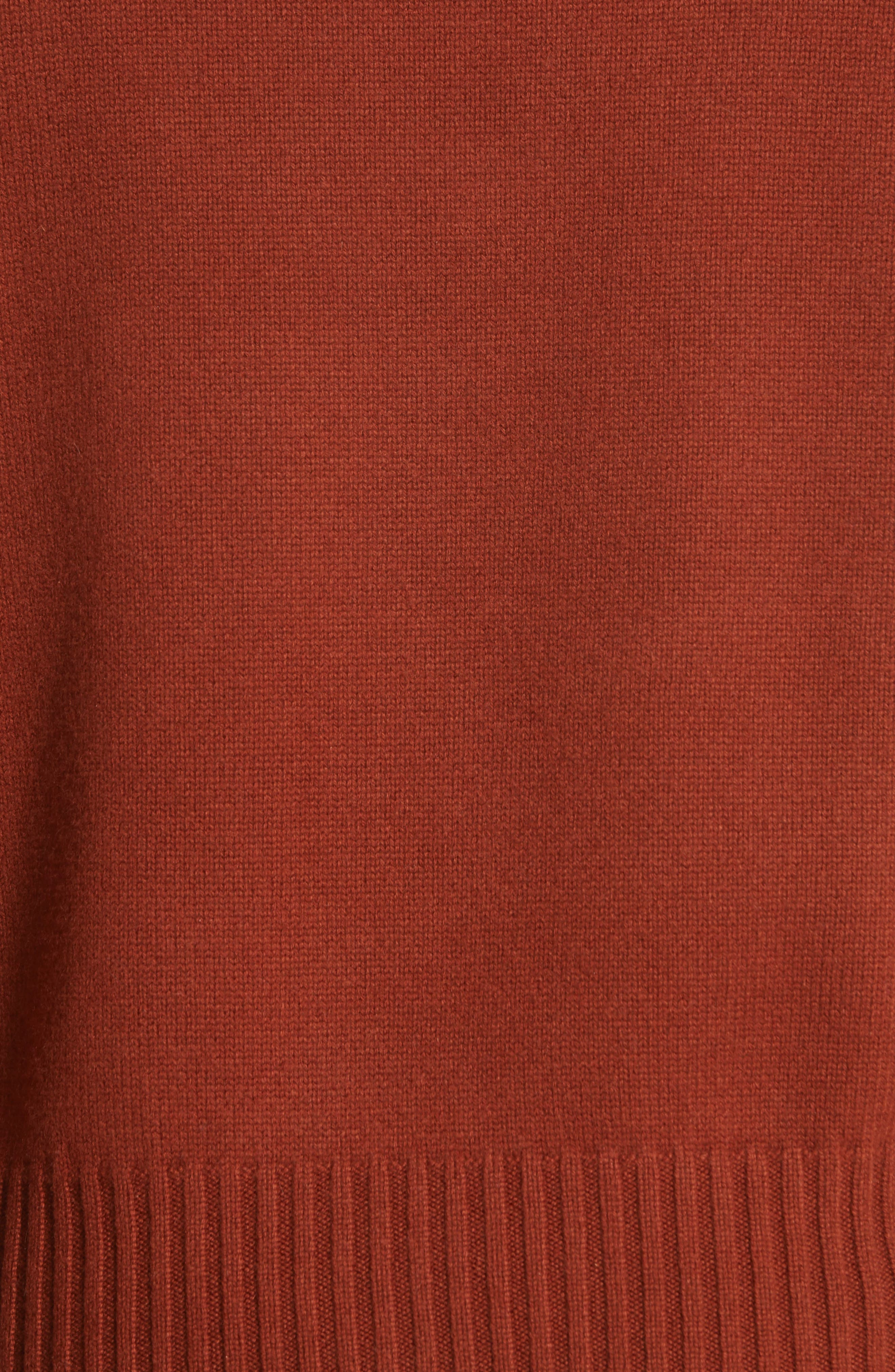 Cashmere Sweater,                             Alternate thumbnail 5, color,                             SIENNA RED