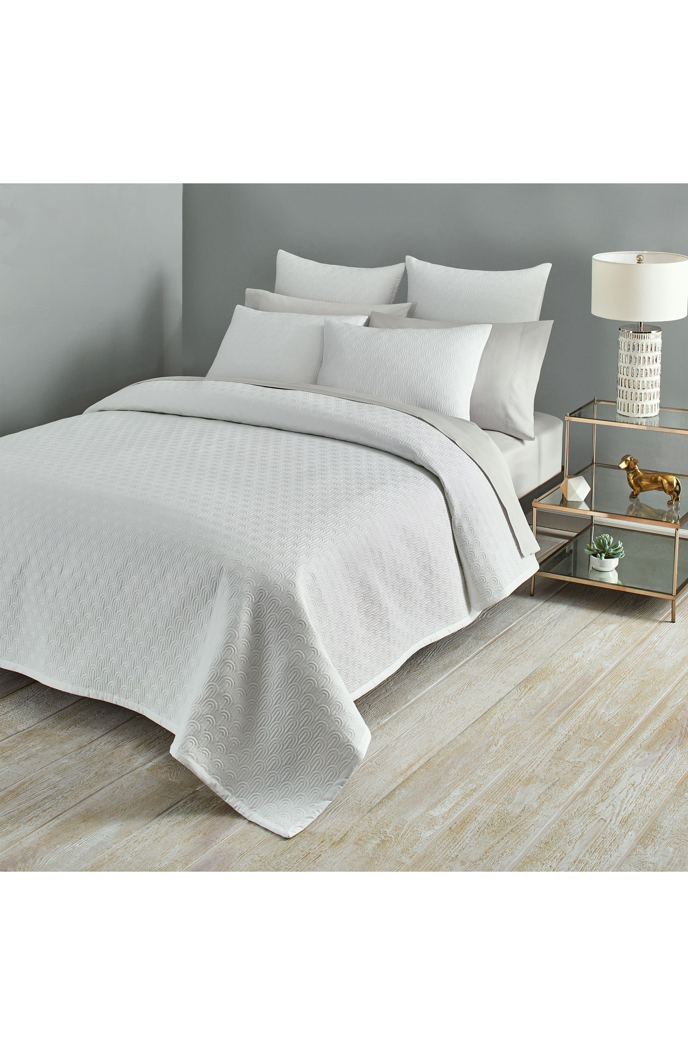 Quilted Coverlet,                             Alternate thumbnail 3, color,                             WHITE