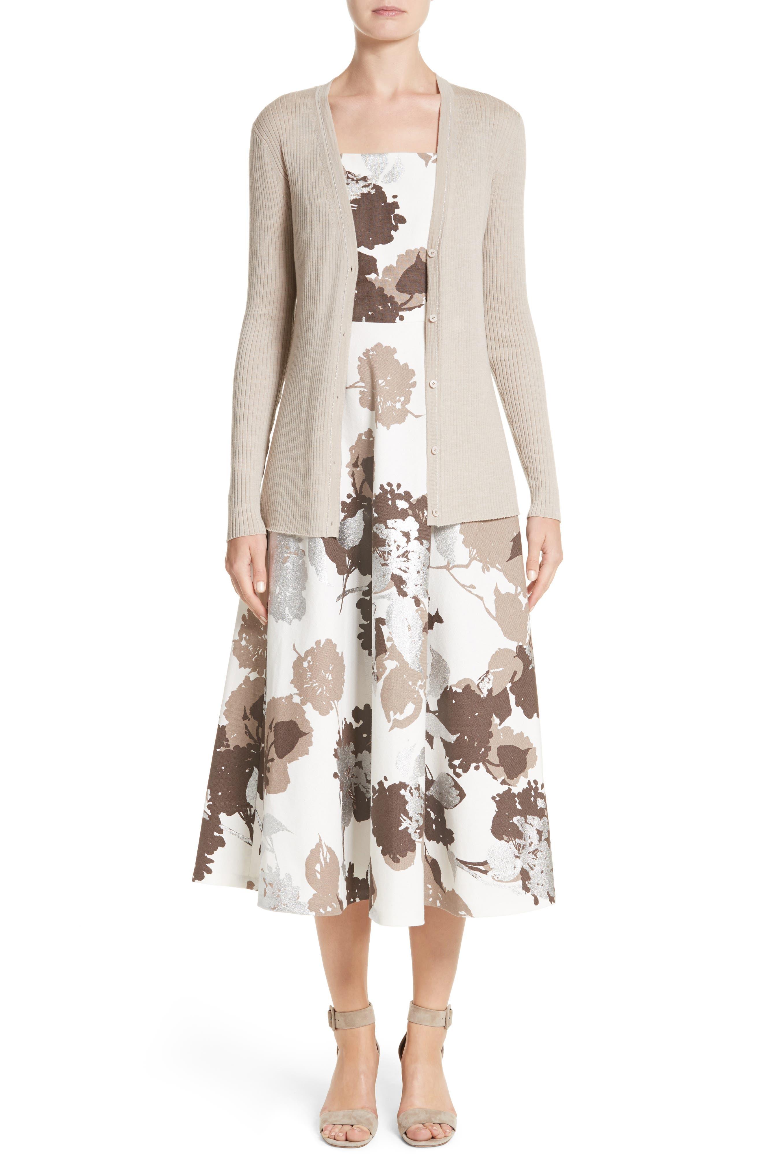 Arlene Print Midi Dress,                             Alternate thumbnail 7, color,                             125