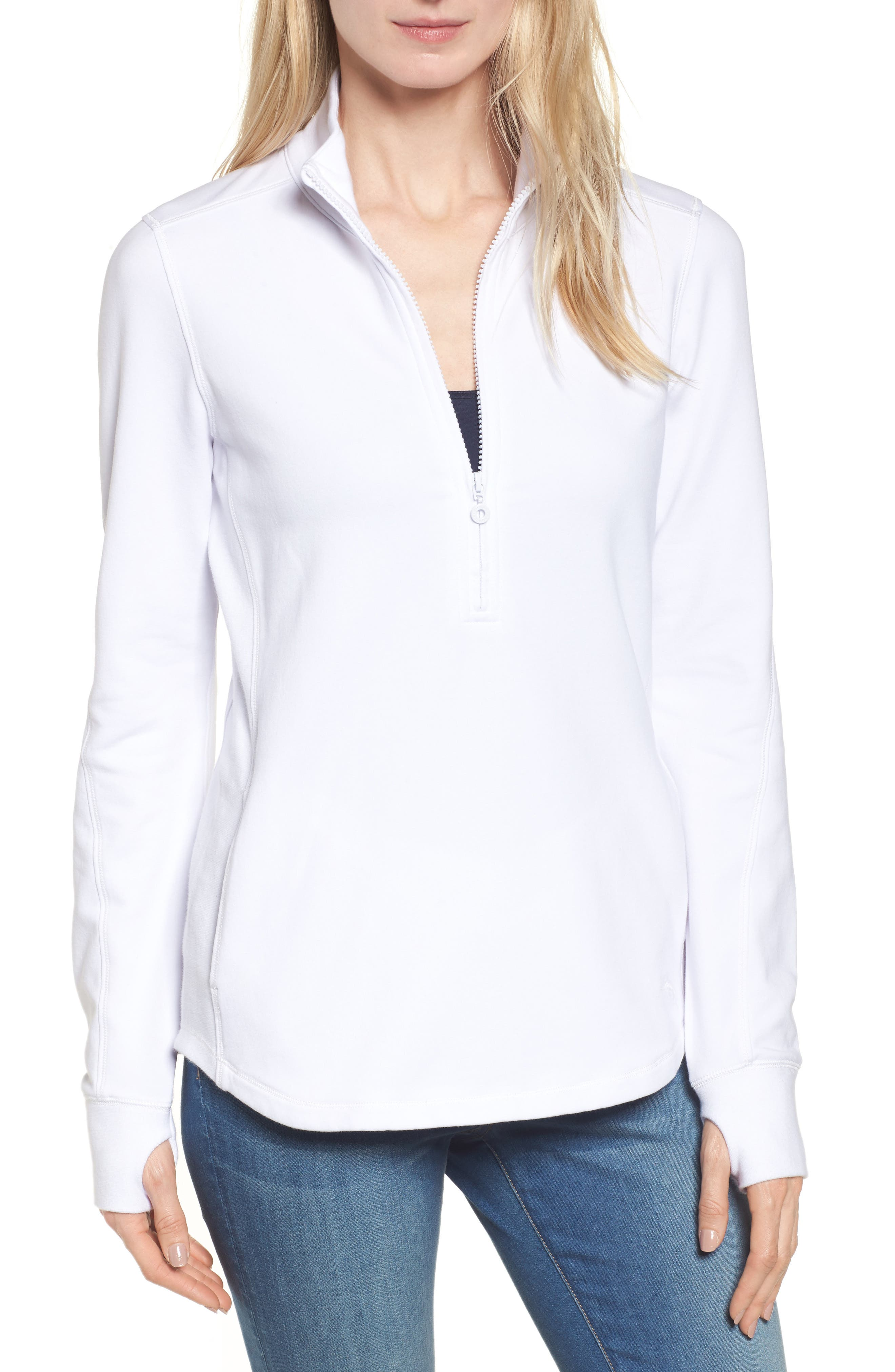 Tommy Bahama Jen And Terry Half Zip Top, White