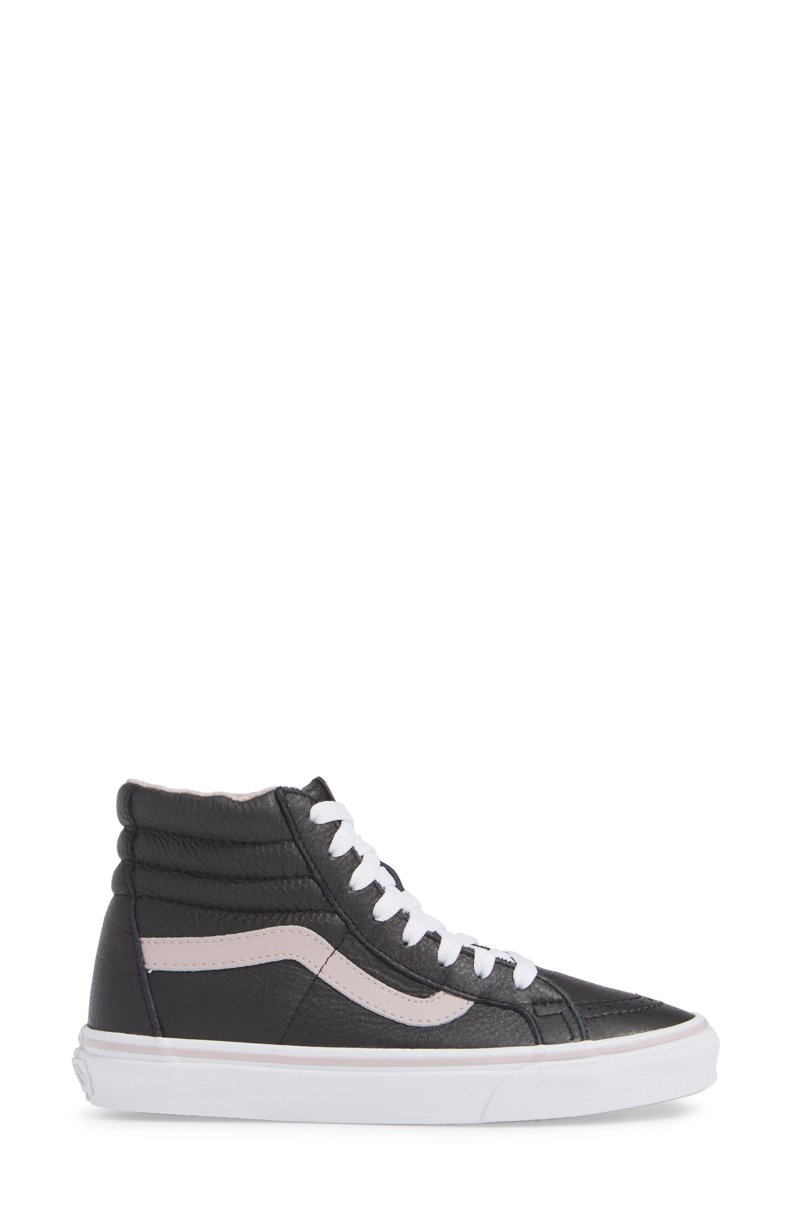 VANS,                             Sk8-Hi Reissue Sneaker,                             Alternate thumbnail 3, color,                             001