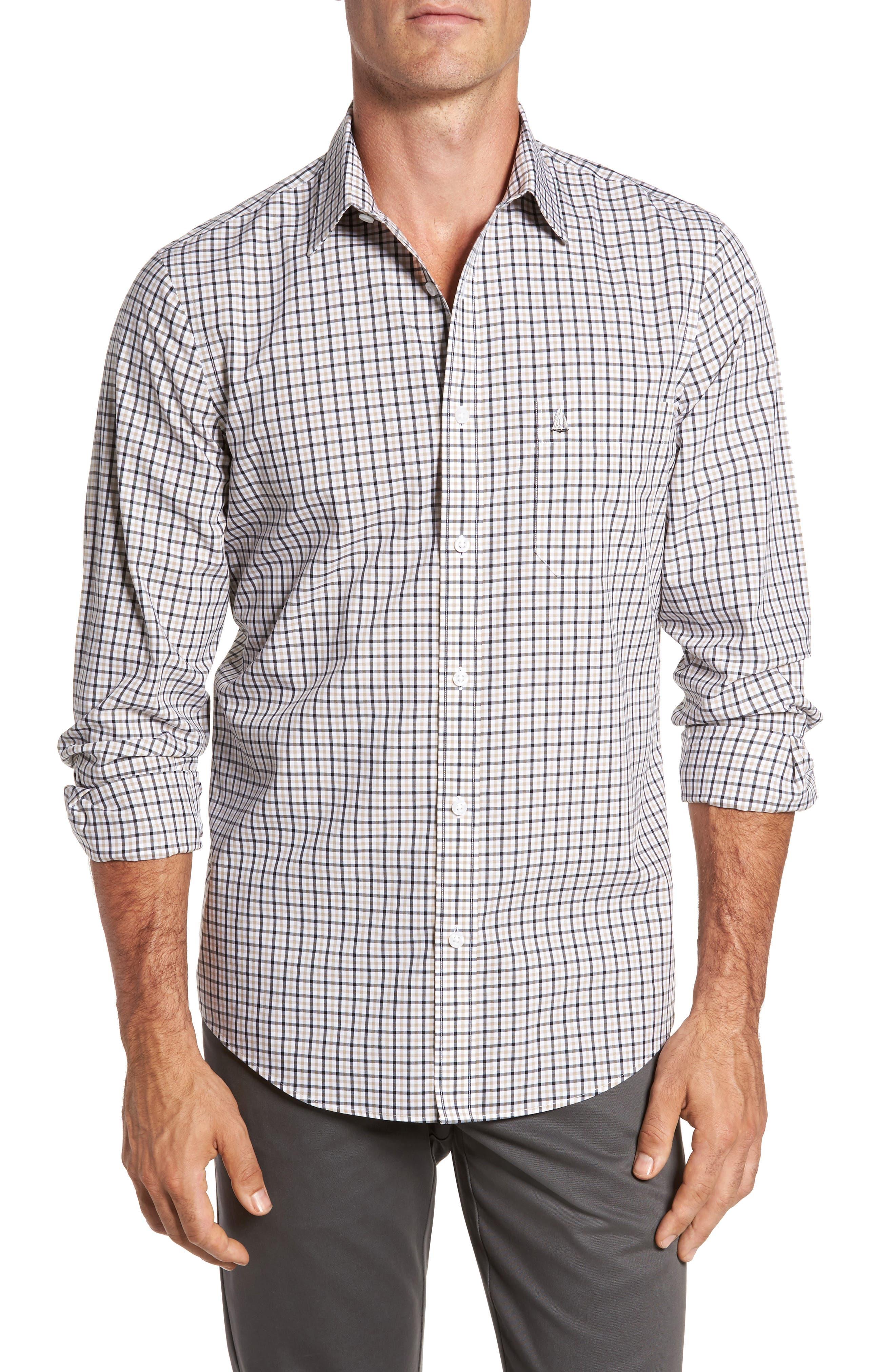 Smartcare<sup>™</sup> Regular Fit Plaid Sport Shirt,                             Main thumbnail 4, color,