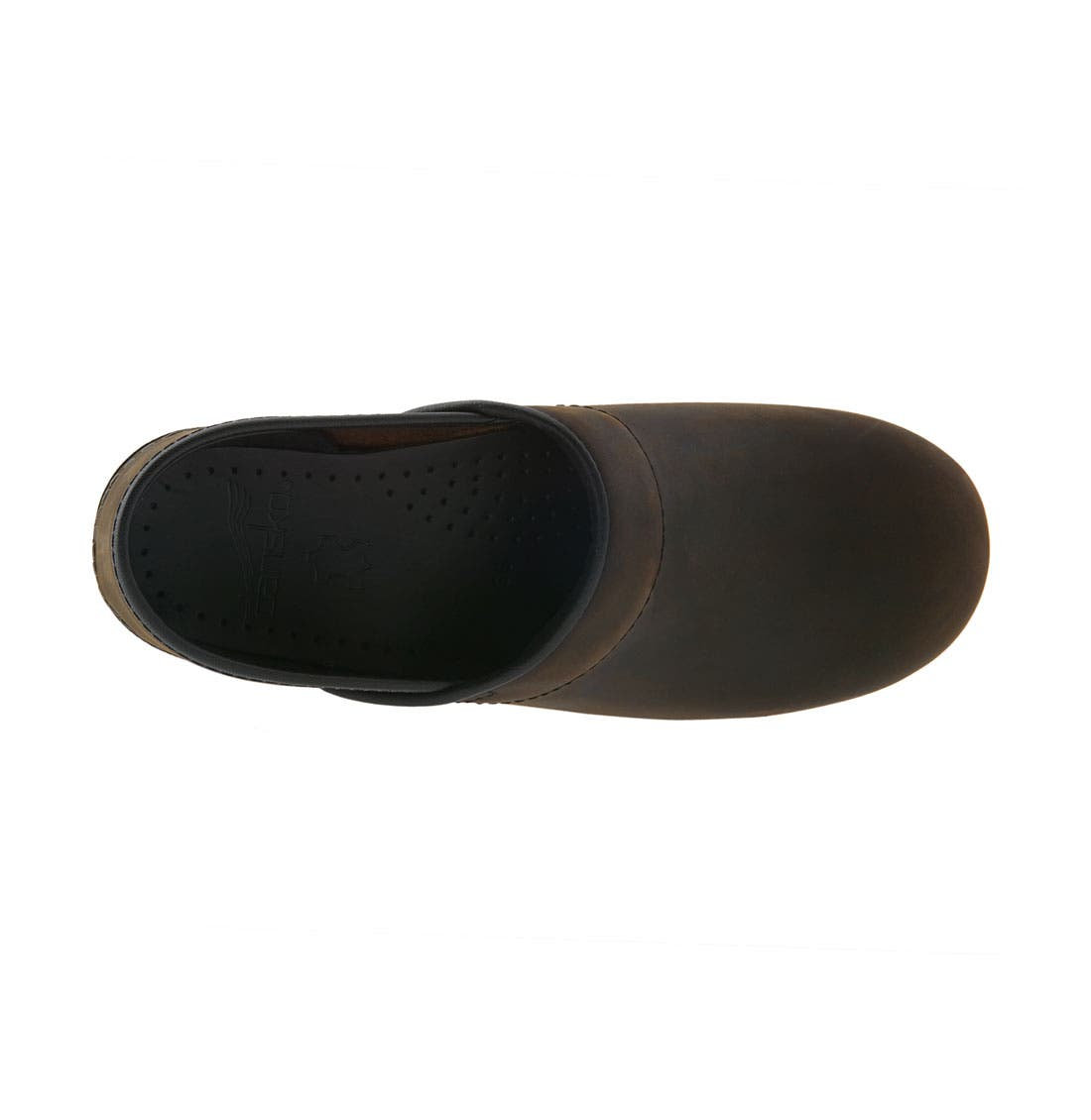 DANSKO,                             'Professional - Narrow' Oiled Leather Clog,                             Alternate thumbnail 4, color,                             ANTIQUE BROWN OILED