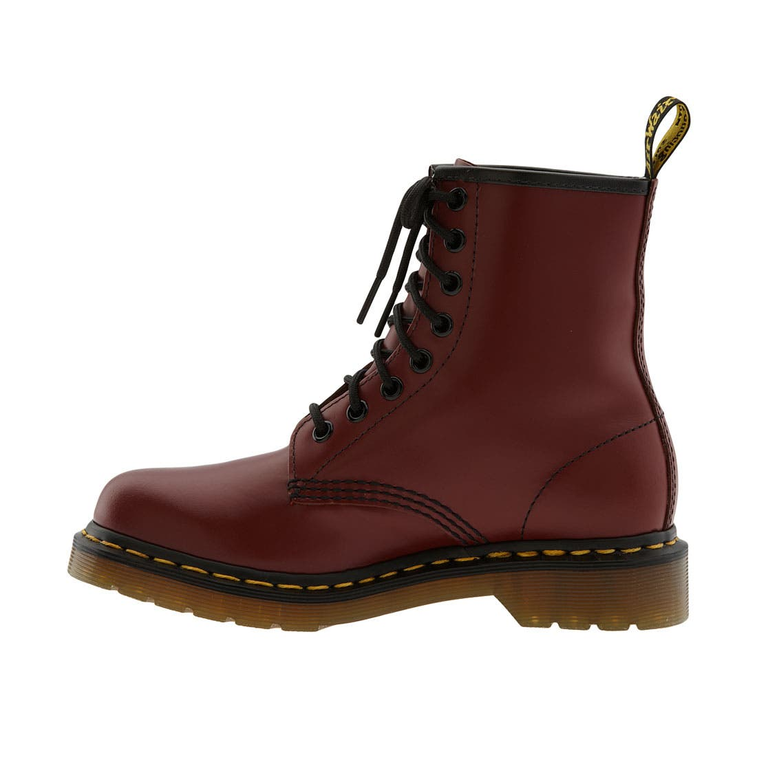 '1460 W' Boot,                             Alternate thumbnail 6, color,                             CHERRY