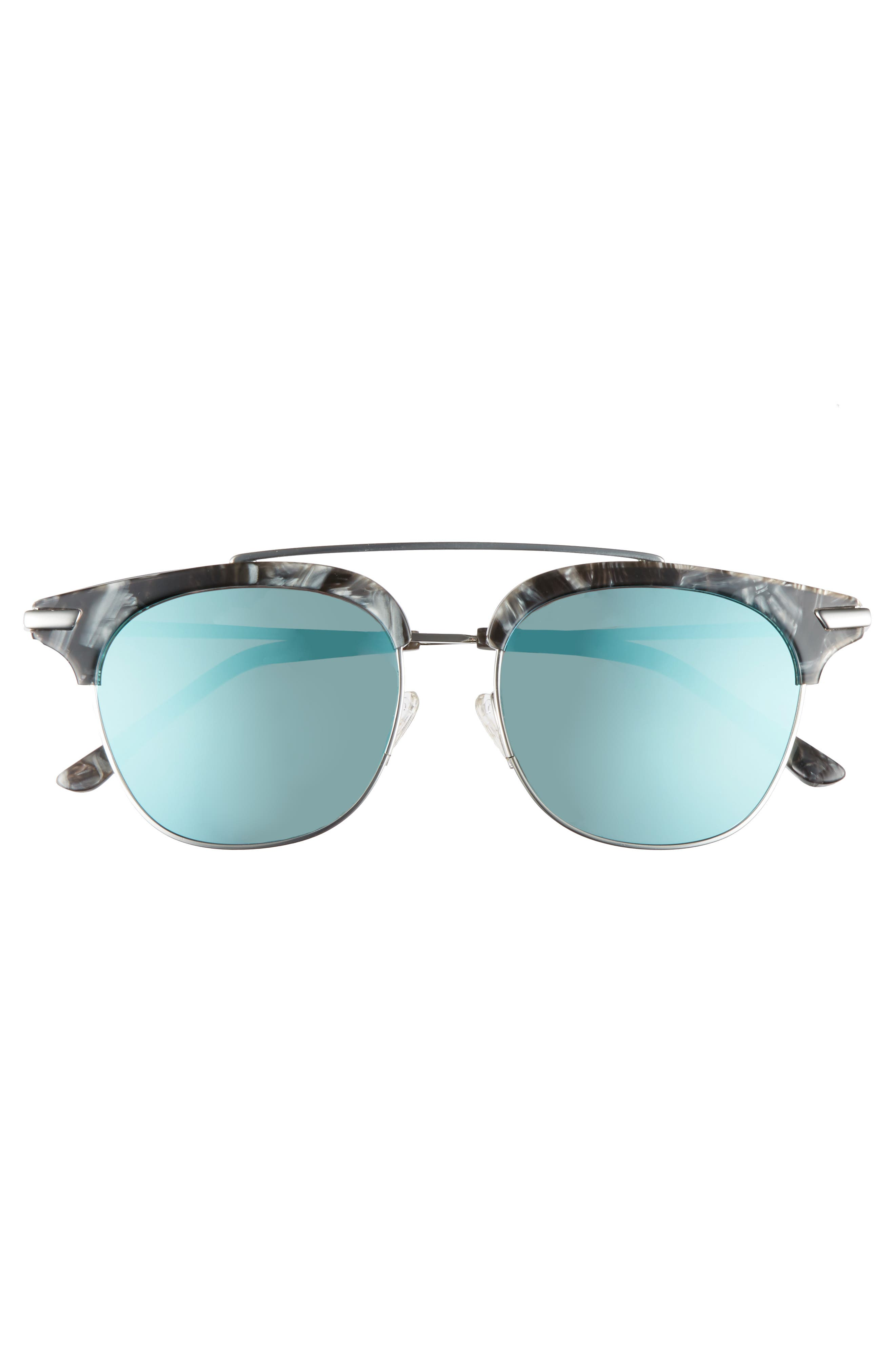 Midway 51mm Polarized Brow Bar Sunglasses,                             Alternate thumbnail 3, color,                             BLUE