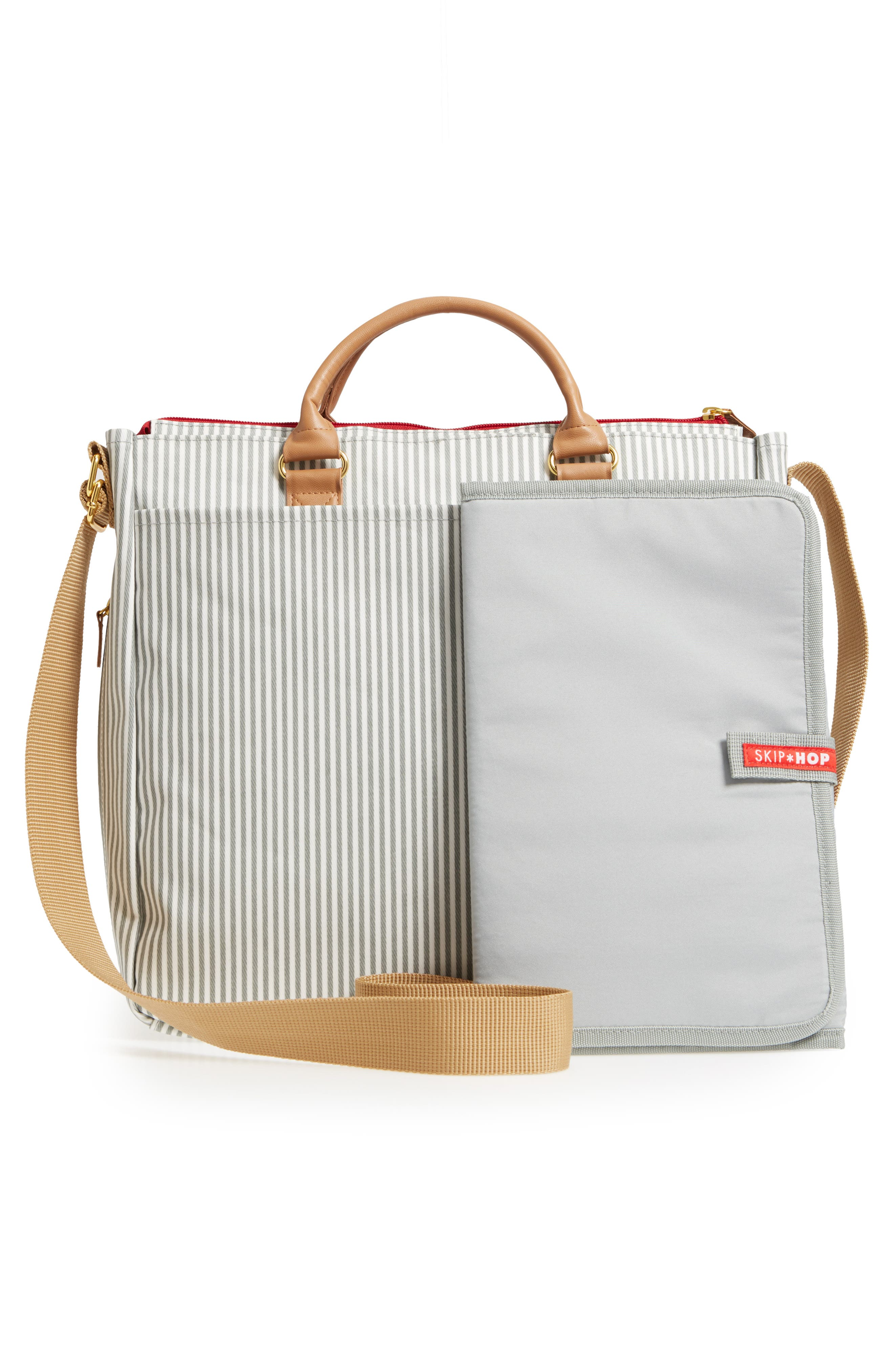 'Duo' Diaper Bag,                             Alternate thumbnail 3, color,                             GREY
